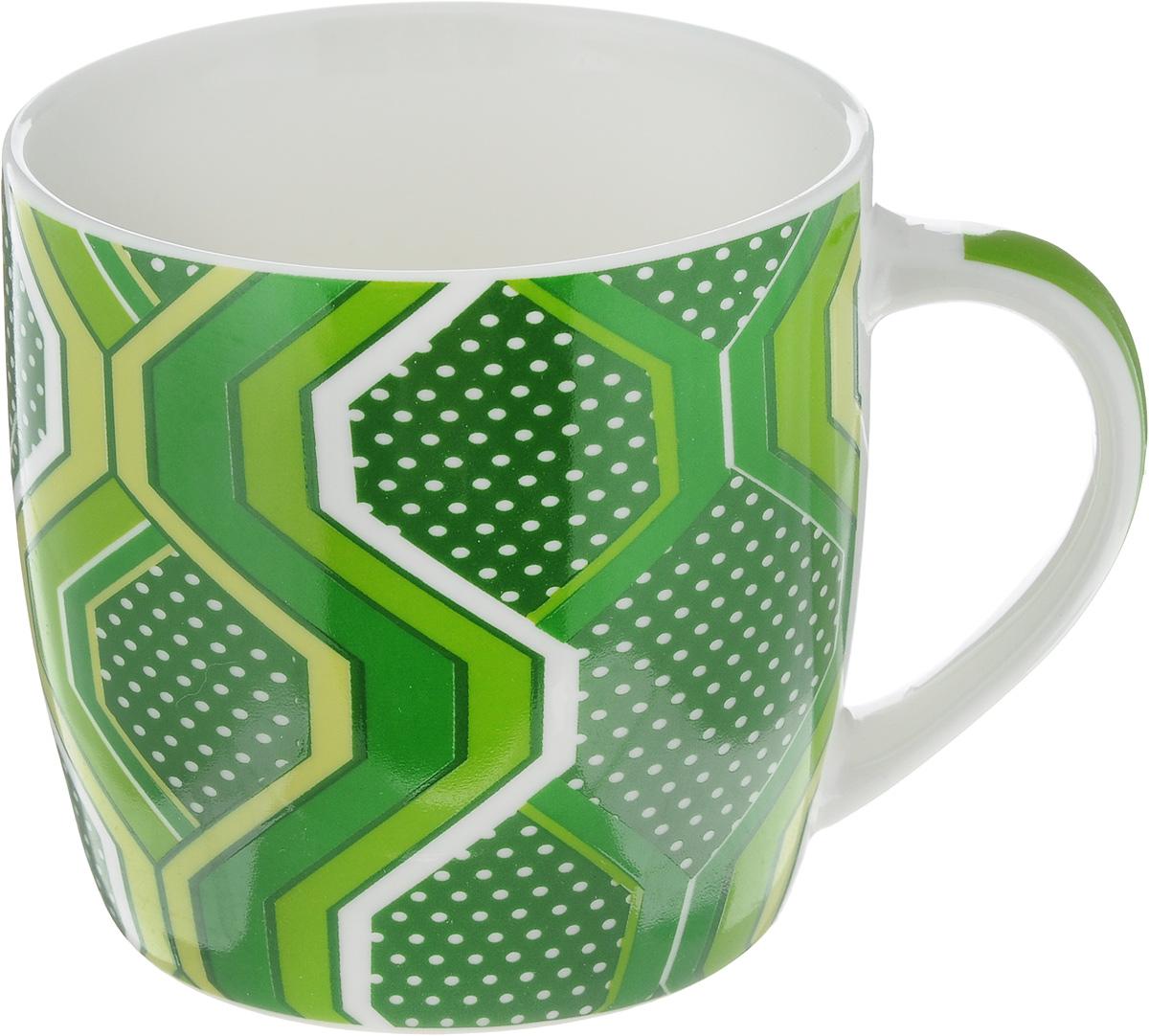 """Кружка """"Loraine"""", цвет: темно-зеленый, 320 мл. 24487"""