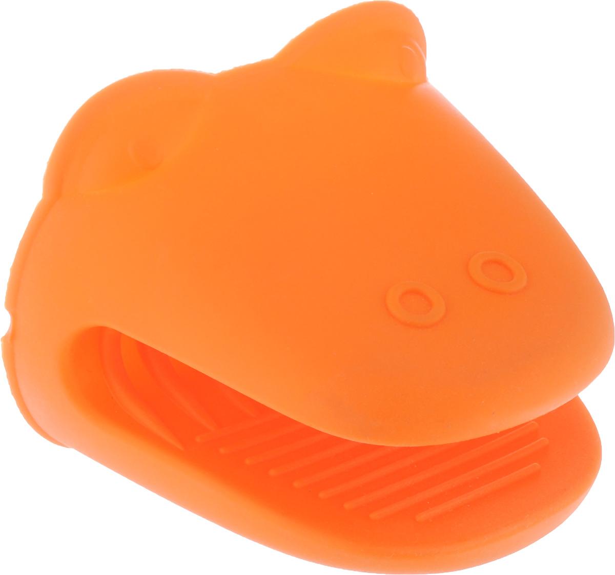 Прихватка Mayer & Boch, силиконовая, цвет: оранжевый, 11,5 х 9 см прихватка силиконовая attribute apricot