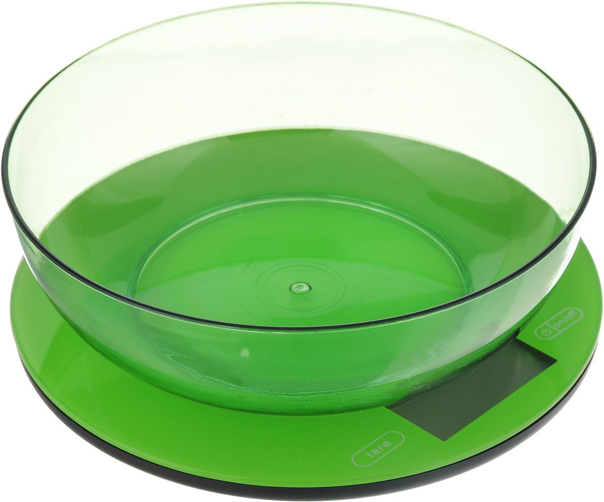 Весы кухонные  Mayer & Bosh , с чашей, цвет: зеленый, до 5 кг. 10958 - Кухонные весы
