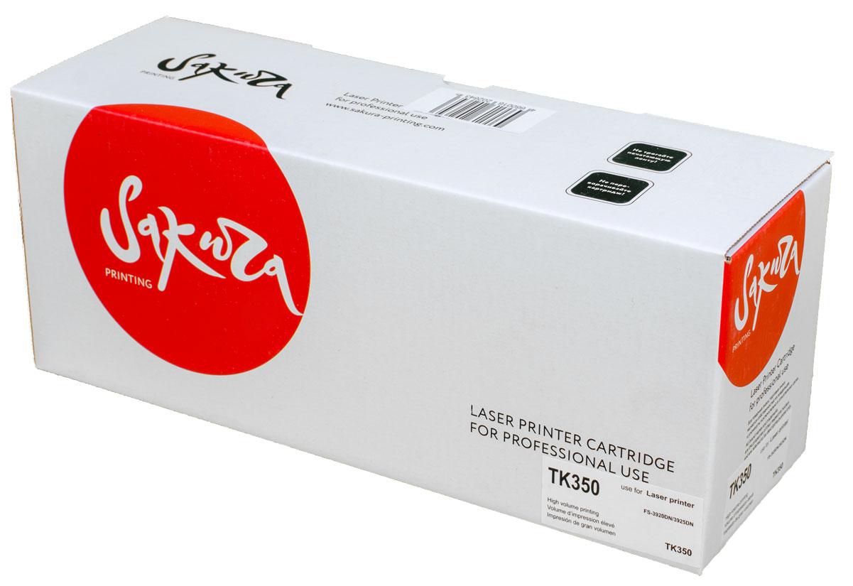 Sakura TK350, Black тонер-картридж для Kyocera FS-3920DN/3925DNSATK350Тонер-картридж Sakura TK350 для лазерных принтеров Kyocera FS-3920DN/3925DN является альтернативным решением для замены оригинальных картриджей. Он печатает с тем же качеством и имеет тот же ресурс, что и оригинальный картридж. В картриджах компании Sakura используется химический синтезированный тонер, который в отличие от дешевого тонера из перемолотого полимера, не царапает, а смазывает печатающий вал, что приводит к возможности многократных перезаправок картриджей. Такой подход гарантирует долгий срок службы принтера, превосходное качество и стабильность печати.Тонер-картриджи Sakura производятся при строгом соответствии стандартам ISO 9001 и ISO 14001, что подтверждено международными сертификатами.