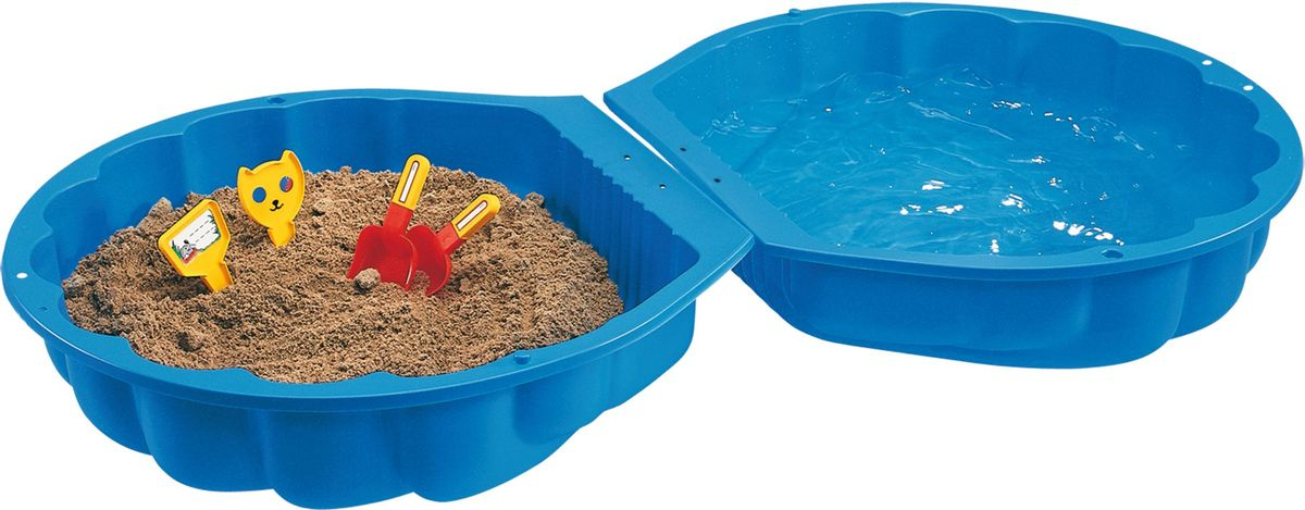 Big Песочница Ракушка Big Sand из 2 частей цвет синий - Игры на открытом воздухе
