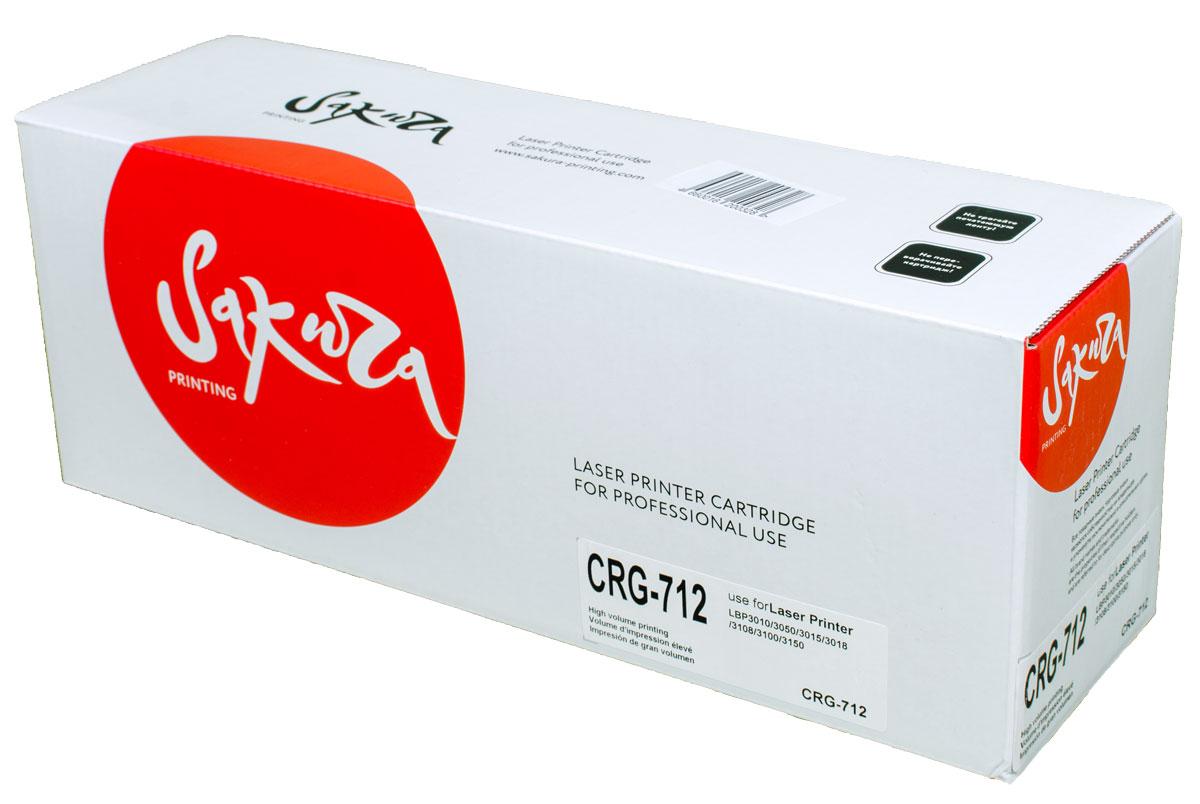 Sakura CRG712, Black тонер-картридж для Canon i-SENSYS LBP3010/LBP3050/LBP3015/LBP3018/LBP3108/LBP3100/LBP3150 canon 712