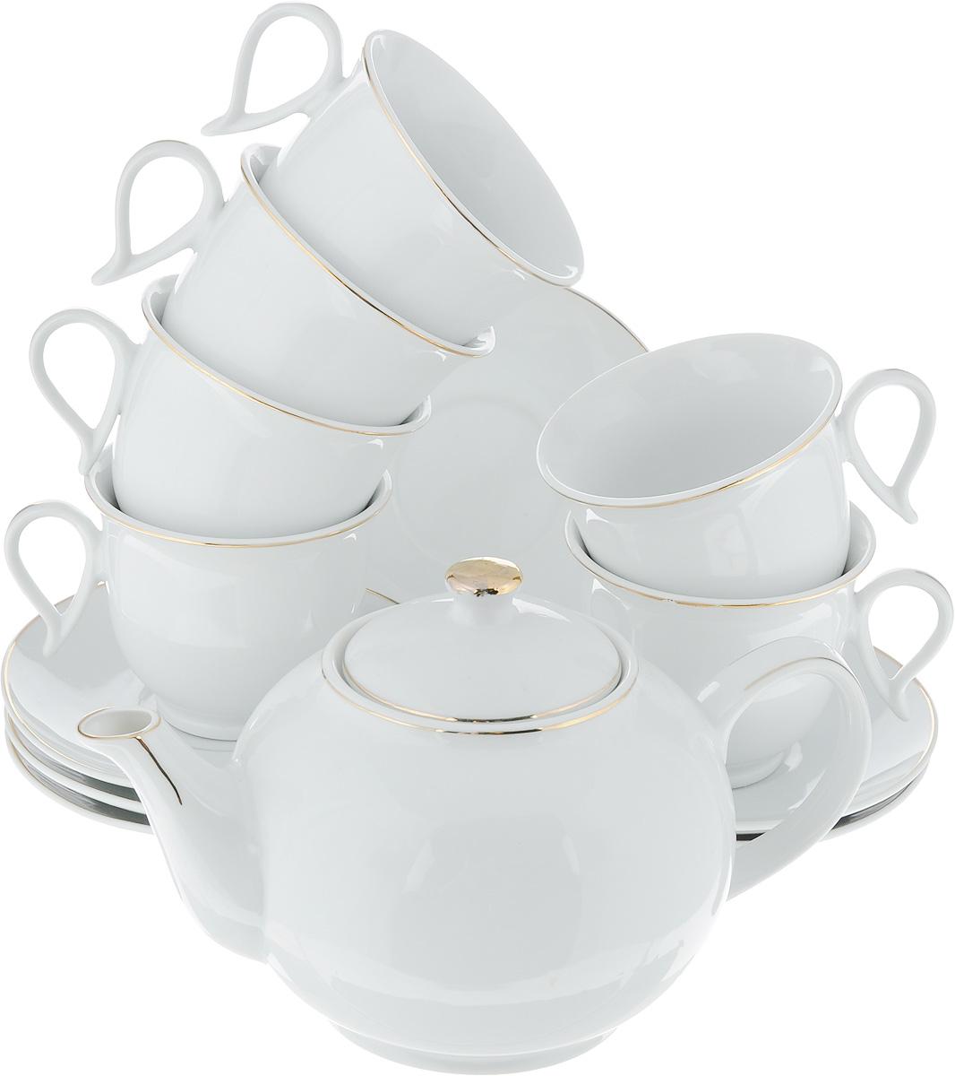 Сервиз чайный Loraine, 13 предметов. 25935 чайный сервиз 13 предметов alex чайный сервиз 13 предметов
