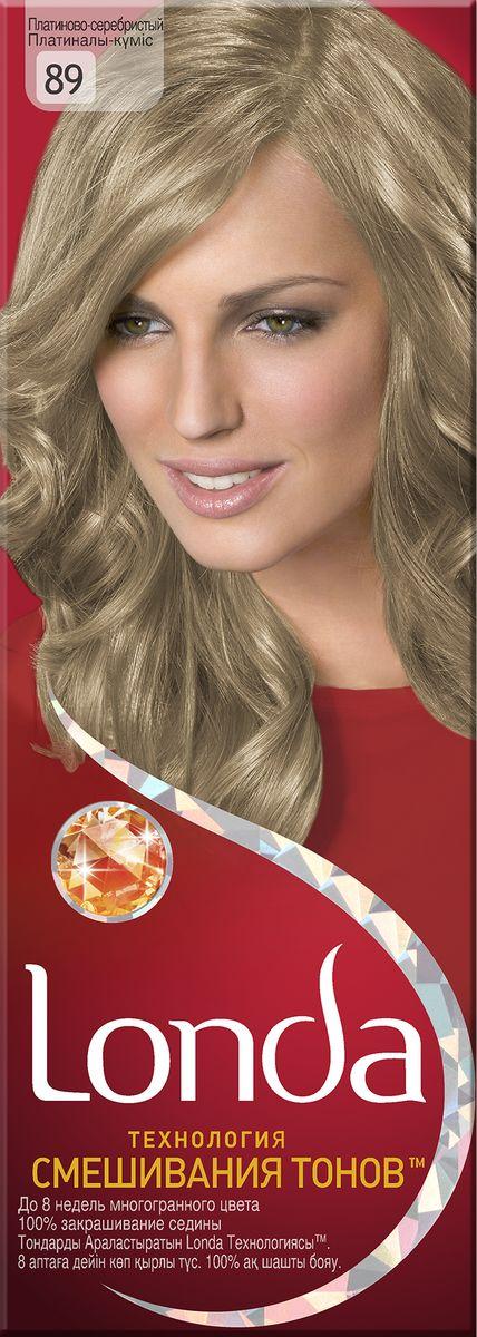 LONDA Крем-краска для волос стойкая 89 Платиново-серебристыйLC-81212682Ищите цвет, полный жизни, который бы сохранился надолго? Крем-краска для волос Londa идеально вам подойдет. Эксклюзивная система окрашивания дарит вам до 8 недель многогранного цвета. Это возможно благодаря технологии смешивания тонов, которая объединяет богатые оттенки, и бальзаму Стойкий цвет, который надолго сохранит ваш насыщенный цвет. 100% закрашивание седины.Товар сертифицирован.