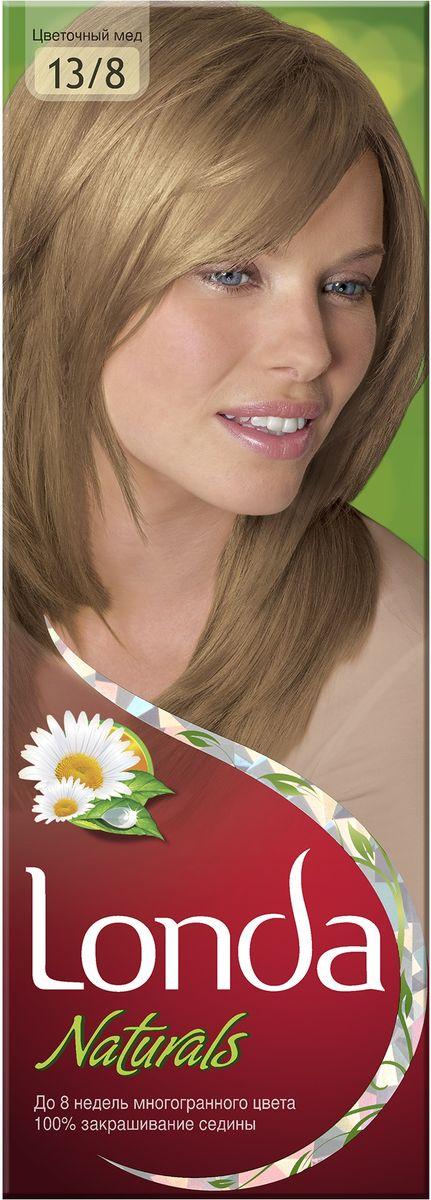 LONDA Крем-краска для волос стойкая Naturals 13/8 Цветочный медLC-81212714Ищите цвет, полный жизни, который бы сохранился надолго? Крем-краска для волос Londa идеально вам подойдет. Эксклюзивная система окрашивания дарит вам до 8 недель многогранного цвета. Это возможно благодаря технологии смешивания тонов, которая объединяет богатые оттенки, и бальзаму Стойкий цвет, который надолго сохранит ваш насыщенный цвет. 100% закрашивание седины.Товар сертифицирован.