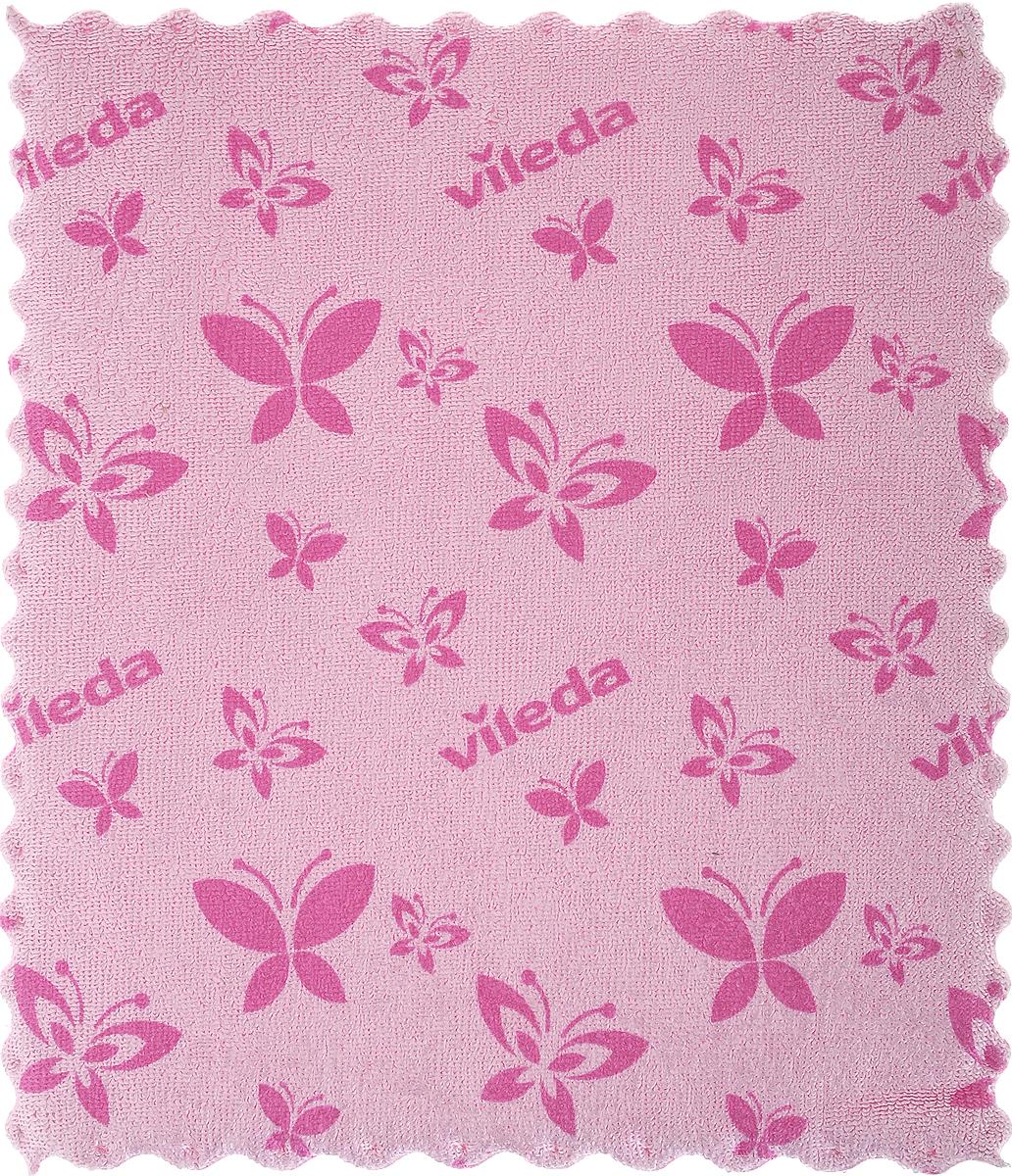 Салфетка универсальная Vileda, цвет: розовый, 17 х 20 смSV3761Универсальная салфетка Vileda предназначена для сухой и влажной уборки. В сухом виде - для удаления пыли, во влажном - для удаления загрязнений и полировки. Она устраняет жир, грязь без следа и разводов. Изделие используется без чистящих средств. Размер: 19 х 17 см.
