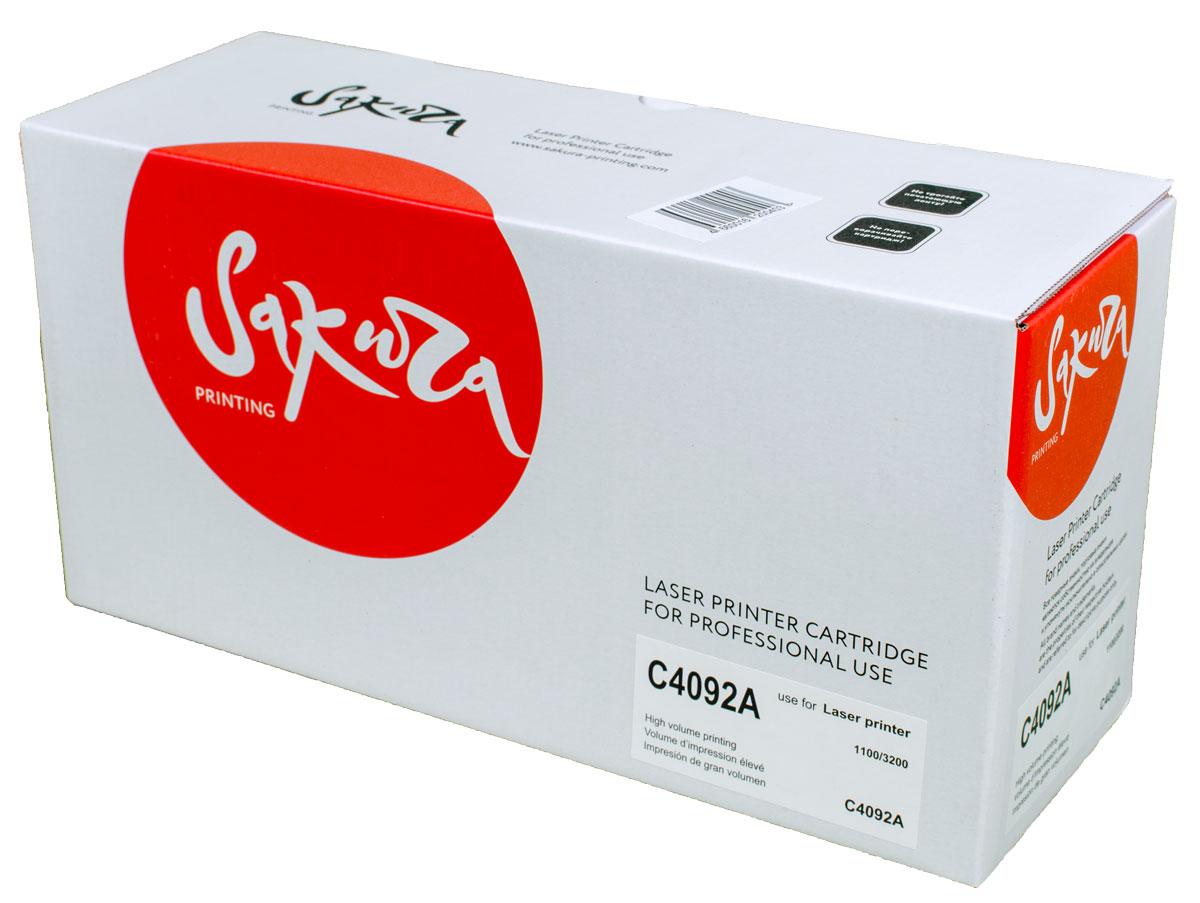 Sakura C4092A, Black тонер-картридж для HP 1100/1100a/1100 se/1100xi/1100a xi/3200/3200se/3200ase/3200SAC4092AТонер-картридж Sakura C4092A для лазерных принтеров HP является альтернативным решением для замены оригинальных картриджей. Он печатает с тем же качеством и имеет тот же ресурс, что и оригинальный картридж. В картриджах компании Sakura используется химический синтезированный тонер, который в отличие от дешевого тонера из перемолотого полимера, не царапает, а смазывает печатающий вал, что приводит к возможности многократных перезаправок картриджей. Такой подход гарантирует долгий срок службы принтера, превосходное качество и стабильность печати.Тонер-картриджи Sakura производятся при строгом соответствии стандартам ISO 9001 и ISO 14001, что подтверждено международными сертификатами.