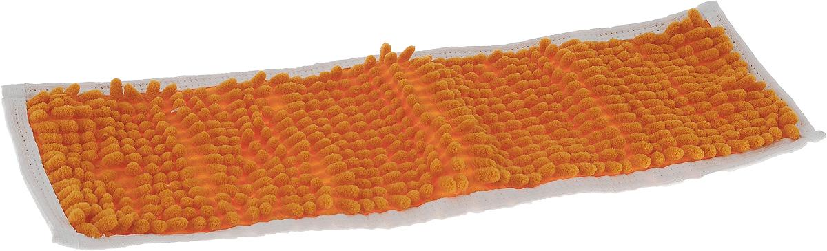 Насадка для швабры Коллекция, цвет: оранжевый, 43 х 13 смХ5ТРШ_оранжевыйНасадка на швабру Коллекция, изготовленная из 100% полиэстера, предназначена для влажной и сухой уборки напольных покрытий: паркет, линолеум, кафель и так далее. Обладает большой впитывающей способностью. Не оставляет разводов и ворсинок, прекрасно собирает пыль и удаляет загрязнения. Легко споласкивается водой, не требует дополнительного ухода.Размер насадки: 43 х 13 см.Высота ворса: 1,5 см.