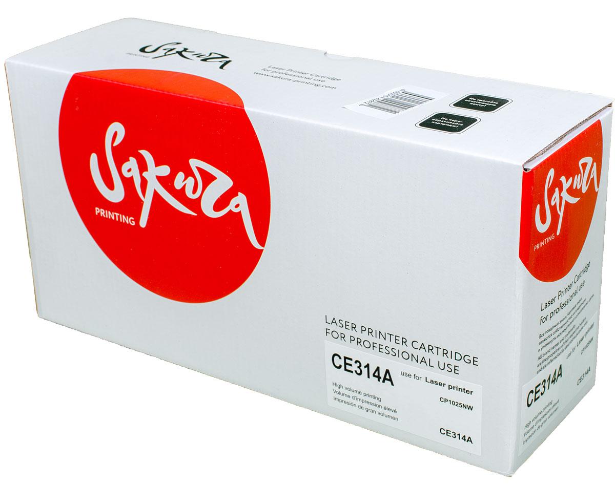 Sakura CE314A фотобарабан для HP MFP M175a/M175nw/CP1025/CP1025nw барабан hp 126a ce314a для laserjet cp1025 cp1025nw ce314a