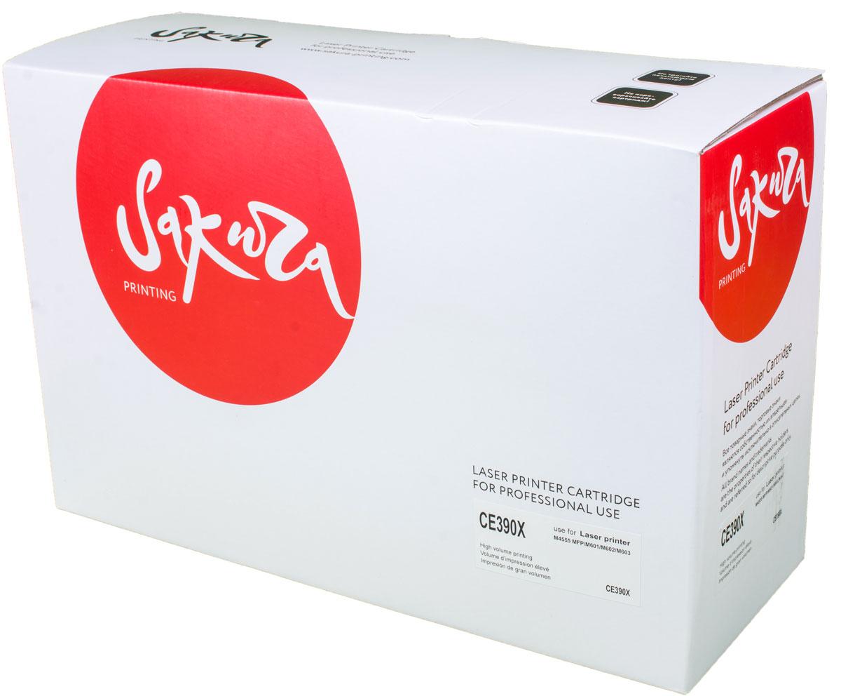 Sakura CE390X, Black тонер-картридж для HP LaserJet Enterprise M4555/M601/M602/M603 картридж sakura black для laserjet 4200 4300 4240 4240n 4250 4350 4345 series