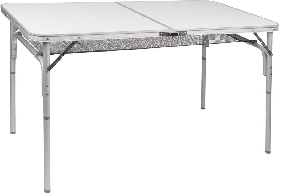 Стол складной Trek Planet Forest 120, кемпинговый, 120 x 60 x 36/60 см70777Легкий стол Forest 120 с ножками складывающимися в столешницу, незаменимая вещь для большой семьи в путешествии.Если поверхность не очень ровная, высоту ножек стола можно слегка отрегулировать с помощью пластиковых шайб в основании каждой ножки.Сетка под столешницей, очень удобное дополнение, позволяет хранить необходимые вещи под рукой.Ножки крепятся на внутренней поверхности стола с помощью пластиковых фиксаторов. Столешница складывается пополам в плоский чемоданчик с ручкой для переноски. - Столешница из огнеупорного пластика- Каждую ножку можно слегка отрегулировать на неровной поверхности за счет пластиковых шайб- Откручивающиеся ножки- Пластиковый крепеж для ножек на внутренней стороне столешницы- Ручка для переноски- Плоско складывается в чемоданчикХарактеристики: Материал: Столешница: огнеупорный пластикРама: 25 мм алюминийРазмер в разложенном виде: 120x60x36/60 смМинимальная высота стола: 36 смМаксимальная высота стола: 60 смРазмер в сложенном виде: 60х60х5 смВес: 4,8 кгНагрузка: 30 кгПроизводство: КитайАртикул: 70777