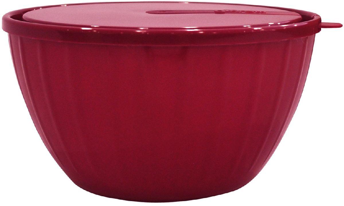 Салатник Giaretti Fiesta, с крышкой, цвет: ягодный, 5 лGR1868ЯГДПластиковый салатник Giaretti Fiesta предназначен не только для подачи, но и для хранения салатов. Удобная крышка помогает сохранять свежесть продуктов, а сам салатник достаточно легок для транспортировки! Он создан из абсолютно безопасных пищевых материалов, так что вы можете не волноваться о сохранении качества продуктов.