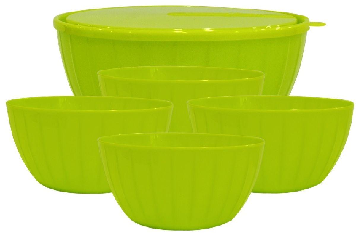 Набор салатников Giaretti Fiesta, цвет: оливковый, 6 предметов набор салатников идиллия колокольчики 4 шт