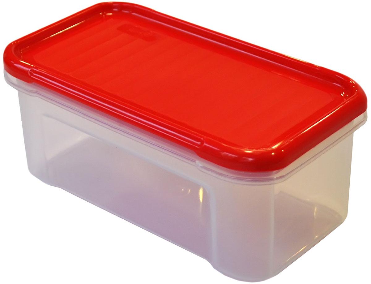 Банка для сыпучих продуктов Giaretti Krupa, цвет: красный, прозрачный, 0,5 лGR2230ЧЕРИБанки для сыпучих продуктов предназначены для хранения круп, сахара, макаронных изделий, сладостей и т.п., в том числе для продуктов с ярким ароматом (специи и пр.). Строгая прямоугольная форма банок поможет Вам организовать пространство максимально комфортно, не теряя полезную площадь. При этом банки устанавливаются одна на другую, что способствует экономии пространства в Вашем шкафу. Плотная крышка не пропускает запахи, и они не смешиваются в Вашем шкафу. Благодаря разнообразным отверстиям в дозаторе, Вам будет удобно насыпать как мелкие, так и крупные сыпучие продукты, что сделает процесс приготовления пищи проще.