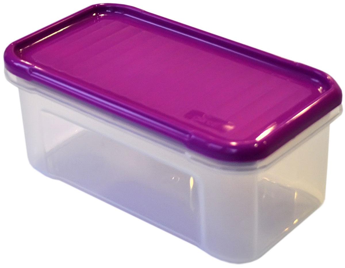 Банка для сыпучих продуктов Giaretti Krupa, цвет: черничный, прозрачный, 500 млGR2230ЧРНБанка для сыпучих продуктов Giaretti Krupa предназначена для хранения круп, сахара, макаронных изделий, сладостей, в том числе для продуктов с ярким ароматом (специи и прочее).Строгая прямоугольная форма банки поможет вам организовать пространство максимально комфортно, не теряя полезную площадь. Плотная крышка не пропускает запахи, и они не смешиваются в вашем шкафу.