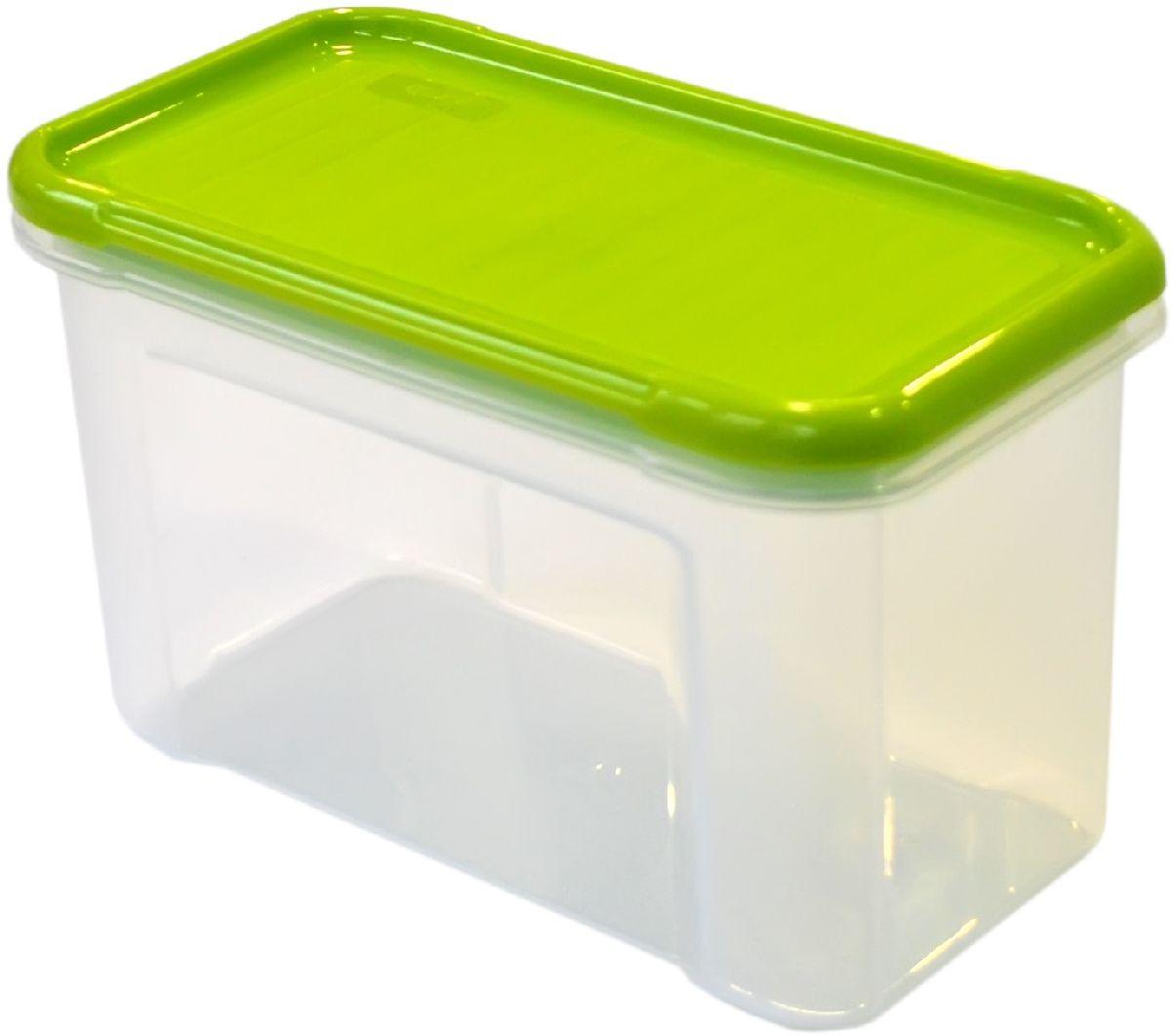 Банка для сыпучих продуктов Giaretti Krupa, цвет: оливковый, прозрачный, 750 млGR2231ОЛБанка для сыпучих продуктов Giaretti Krupa предназначена для хранения круп, сахара, макаронных изделий, сладостей, в том числе для продуктов с ярким ароматом (специи и прочее). Строгая прямоугольная форма банки поможет вам организовать пространство максимально комфортно, не теряя полезную площадь. Плотная крышка не пропускает запахи, и они не смешиваются в вашем шкафу.