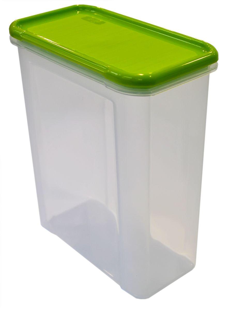 Банка для сыпучих продуктов Giaretti Krupa, цвет: оливковый, прозрачный, 1,5 лGR2233ОЛБанка для сыпучих продуктов Giaretti Krupa предназначена для хранения круп, сахара, макаронных изделий, сладостей, в том числе для продуктов с ярким ароматом (специи и прочее).Строгая прямоугольная форма банки поможет вам организовать пространство максимально комфортно, не теряя полезную площадь. Плотная крышка не пропускает запахи, и они не смешиваются в вашем шкафу.