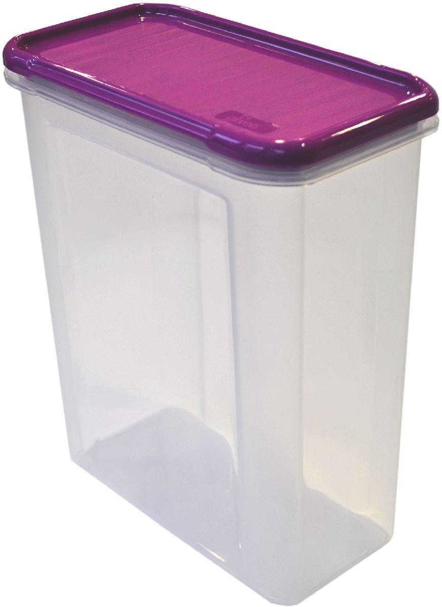 Банка для сыпучих продуктов Giaretti Krupa, цвет: черничный, прозрачный, 1,5 лGR2233ЧРНБанка для сыпучих продуктов Giaretti Krupa предназначена для хранения круп, сахара, макаронных изделий, сладостей, в том числе для продуктов с ярким ароматом (специи и прочее). Строгая прямоугольная форма банки поможет вам организовать пространство максимально комфортно, не теряя полезную площадь. Плотная крышка не пропускает запахи, и они не смешиваются в вашем шкафу.