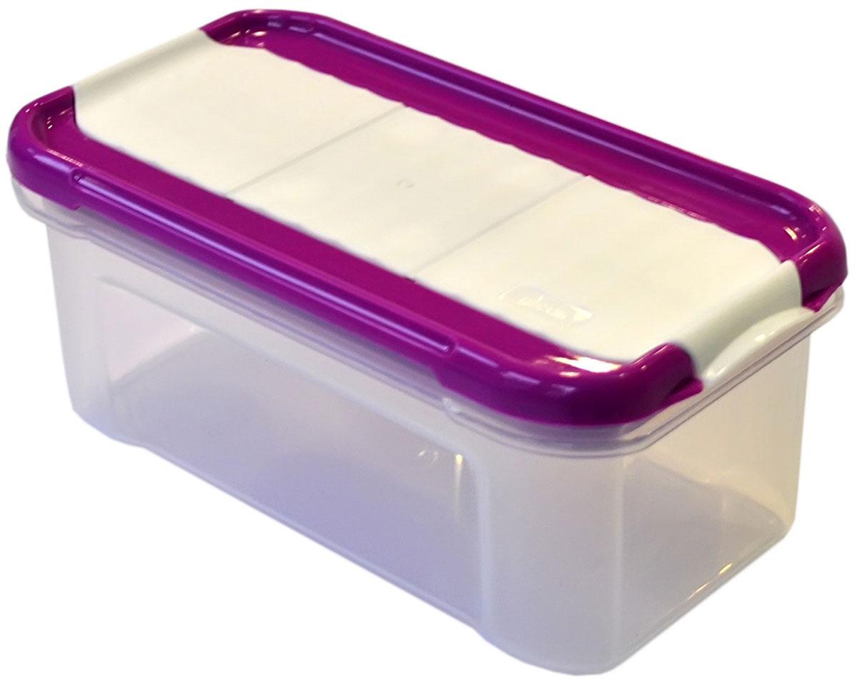 Банка для сыпучих продуктов Giaretti Krupa, с дозатором, цвет: черничный, прозрачный, 500 млGR2234ЧРНБанка для сыпучих продуктов Giaretti Krupa предназначена для хранения круп, сахара, макаронных изделий, сладостей, в том числе для продуктов с ярким ароматом (специи и прочее). Строгая прямоугольная форма банки поможет вам организовать пространство максимально комфортно, не теряя полезную площадь. Плотная крышка не пропускает запахи, и они не смешиваются в вашем шкафу. Благодаря разнообразным отверстиям в дозаторе будет удобно насыпать как мелкие, так и крупные сыпучие продукты, что сделает процесс приготовления пищи проще.
