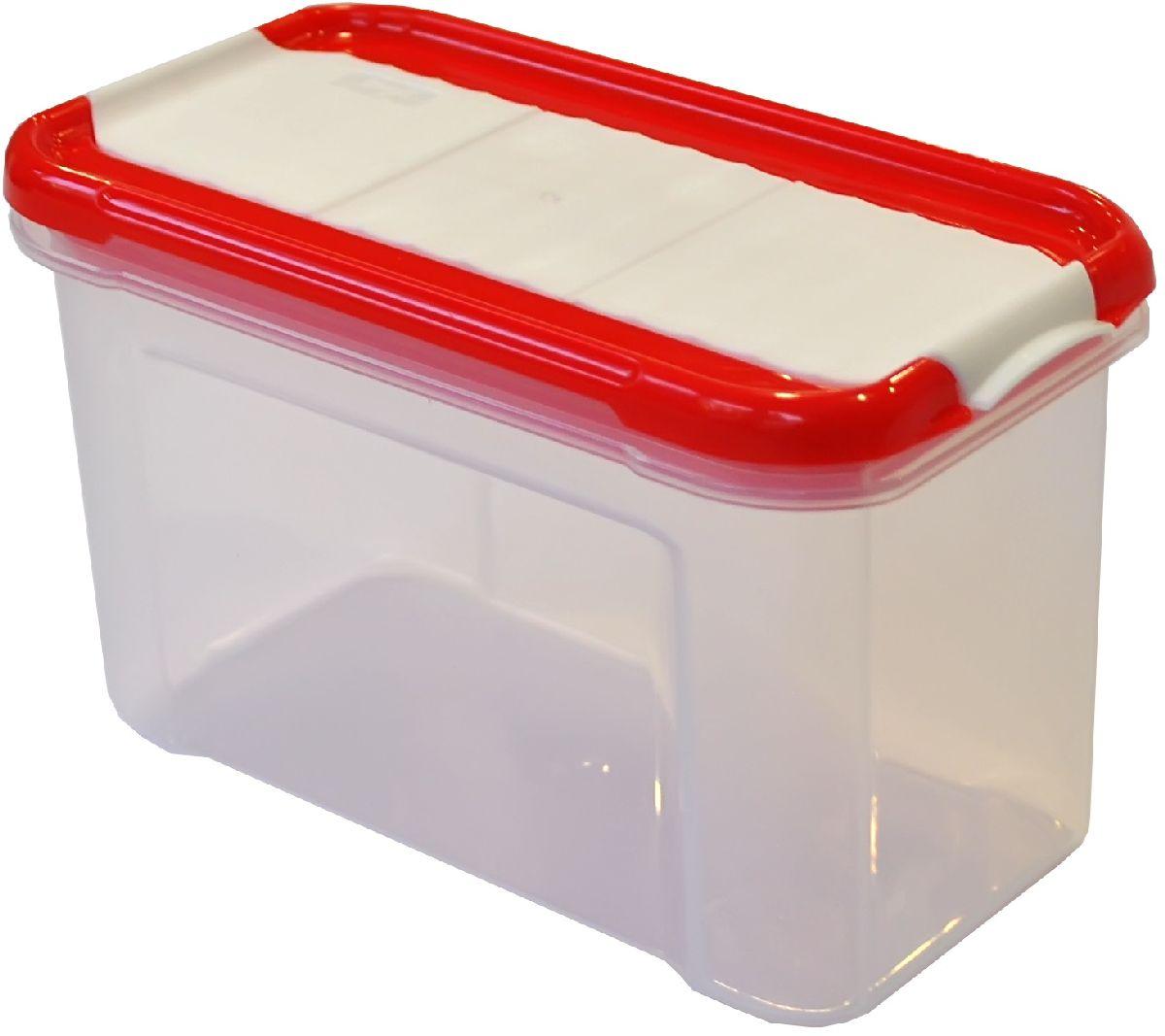 Банка для сыпучих продуктов Giaretti Krupa, с дозатором, цвет: красный, прозрачный, 750 млGR2235ЧЕРИБанка для сыпучих продуктов Giaretti Krupa предназначена для хранения круп, сахара, макаронных изделий, сладостей, в том числе для продуктов с ярким ароматом (специи и прочее). Строгая прямоугольная форма банки поможет вам организовать пространство максимально комфортно, не теряя полезную площадь. Плотная крышка не пропускает запахи, и они не смешиваются в вашем шкафу. Благодаря разнообразным отверстиям в дозаторе будет удобно насыпать как мелкие, так и крупные сыпучие продукты, что сделает процесс приготовления пищи проще.