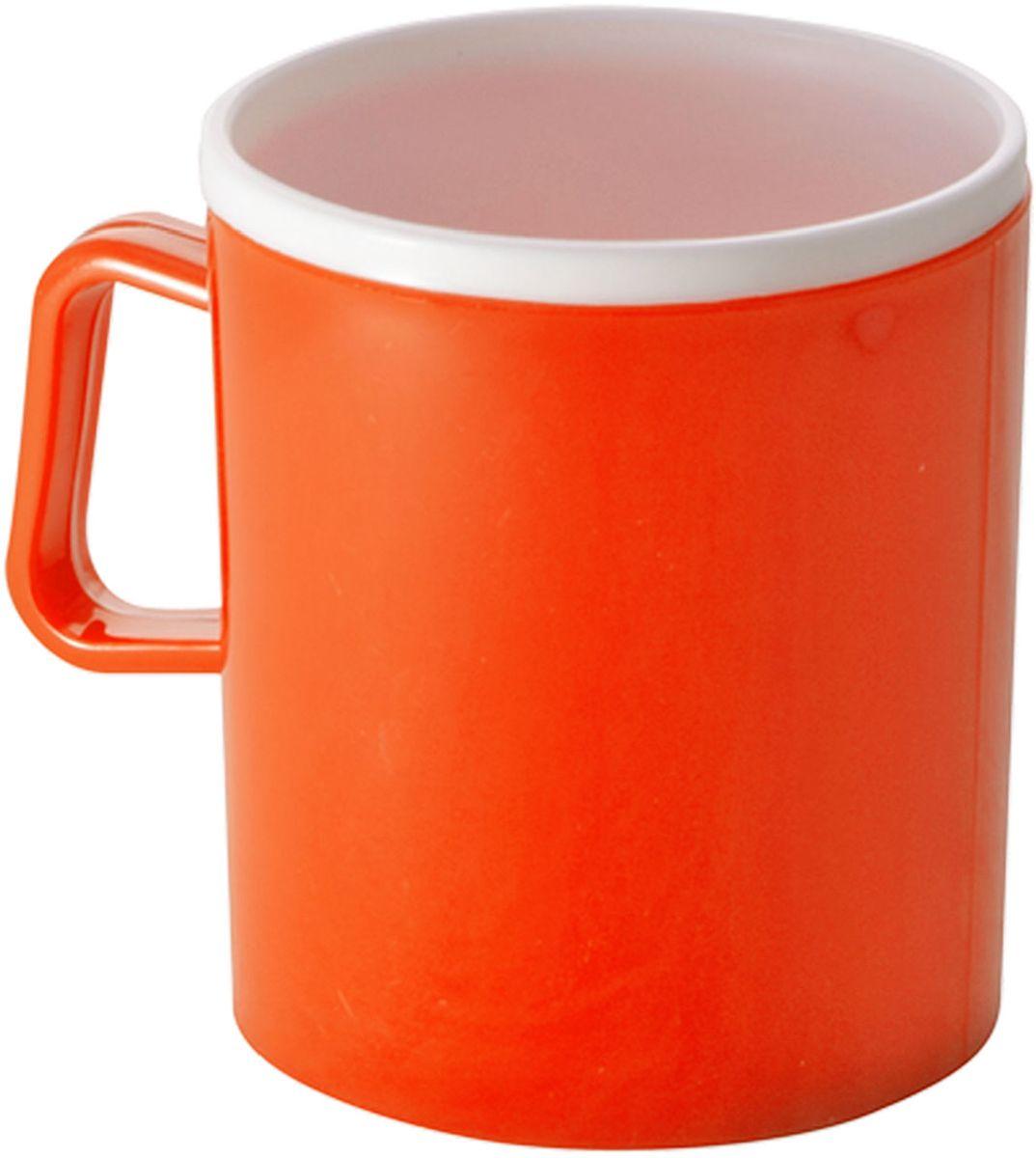 Термокружка Plastic Centre, двойная, цвет: оранжевый, 350 млПЦ1120МНДТермокружка Plastic Centre с двойными стенками предназначена для горячих напитков и прекрасно сохраняет их температуру. Прочный пластик подходит для многократного использования. Легкую кружку удобно взять с собой на природу или в поездку. Можно мыть в посудомоечной машине. Объем кружки: 350 мл. Высота кружки: 10 см.