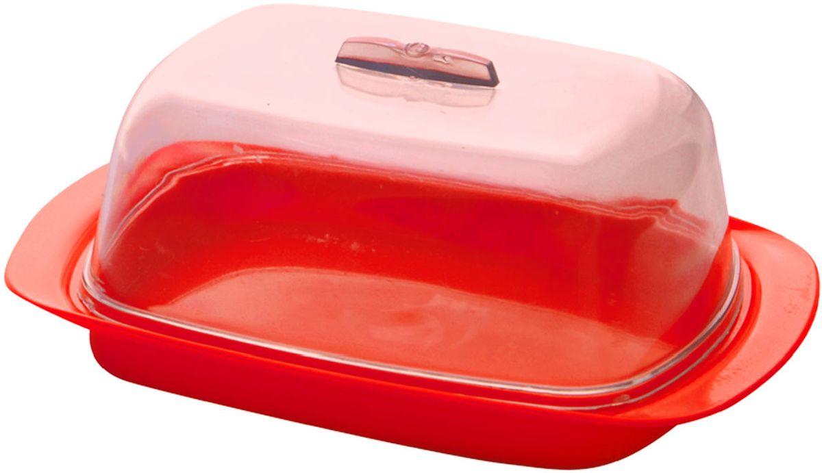 Масленка Plastic Centre, цвет: красный, 17 х 7 х 11,5 см кейс для хранения pacchetto medio 56 х 33 х 17 см