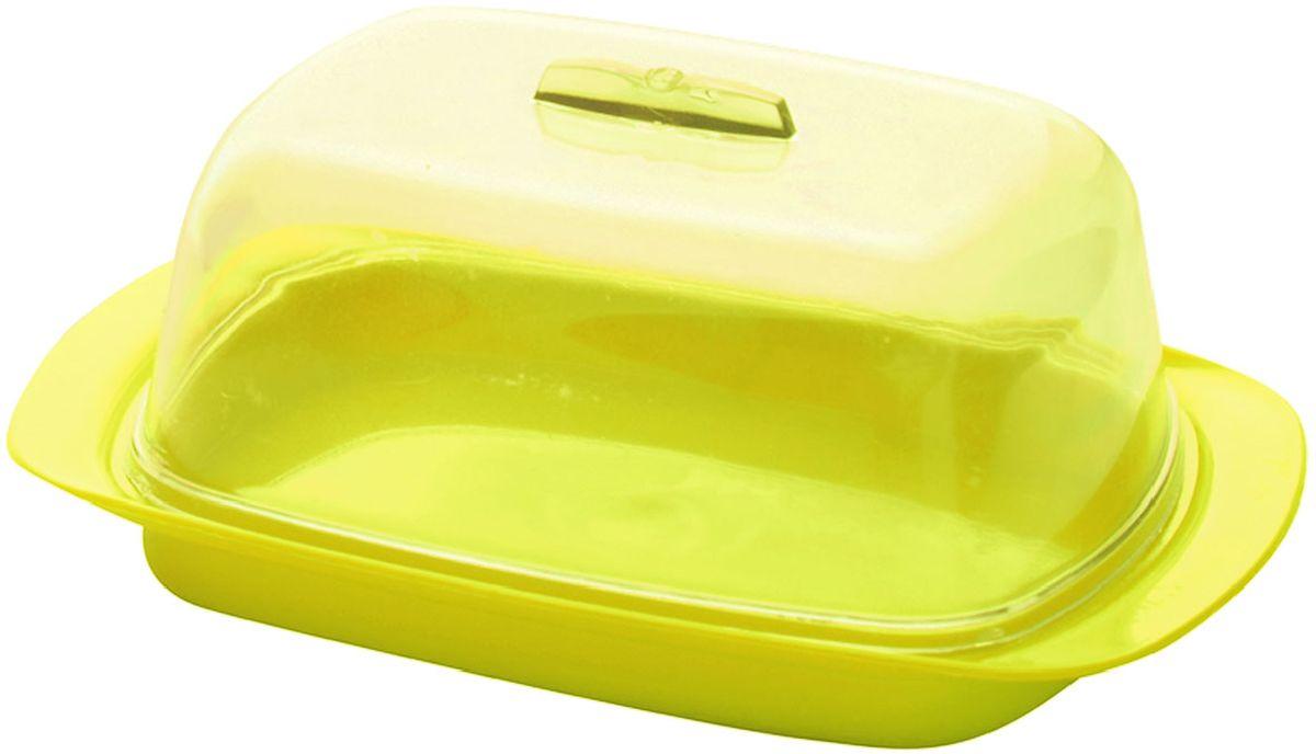 Масленка Plastic Centre, цвет: желтый, 18 х 7 х 11,5 смПЦ1450ЛМНУниверсальная масленка для хранения масла. Лаконичный дизайн и яркая цветовая гамма прекрасно подойдут как для хранения масла в холодильнике, так и для подачи на стол. Размер масленки: 18 х 7 х 11,5 см.