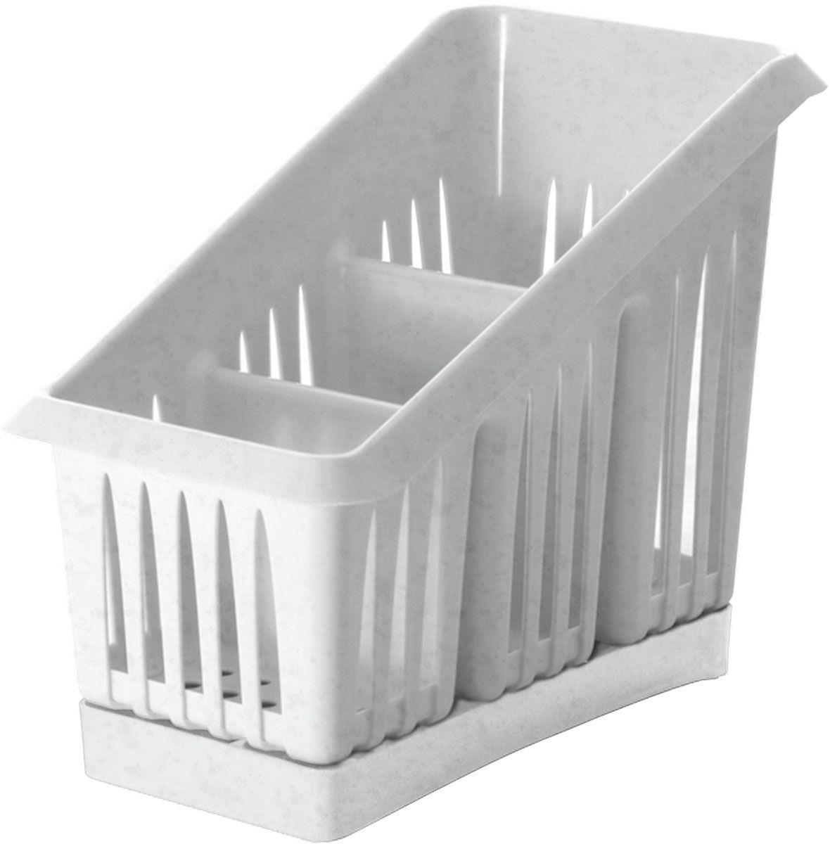 Сушилка для столовых приборов Plastic Centre Лилия, 3-секционная, цвет: мраморный, 20 х 12 х 16 смПЦ1564МРСушилка для столовых приборов Plastic Centre пригодится на любой кухне. Изделие выполнено из полипропилена. Три секции позволят сушить или хранить столовые приборы по отдельности (ножи, вилки, ложки и т.п.). Сушилка снабжена поддоном для стокаводы с приборов.
