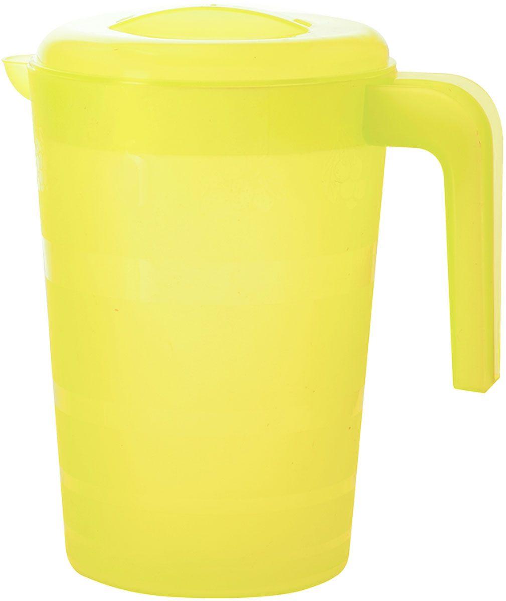 Кувшин Plastic Centre Фазенда, с крышкой, цвет: желтый, 2 л кувшин plastic centre сфера цвет светло зеленый прозрачный 2 л