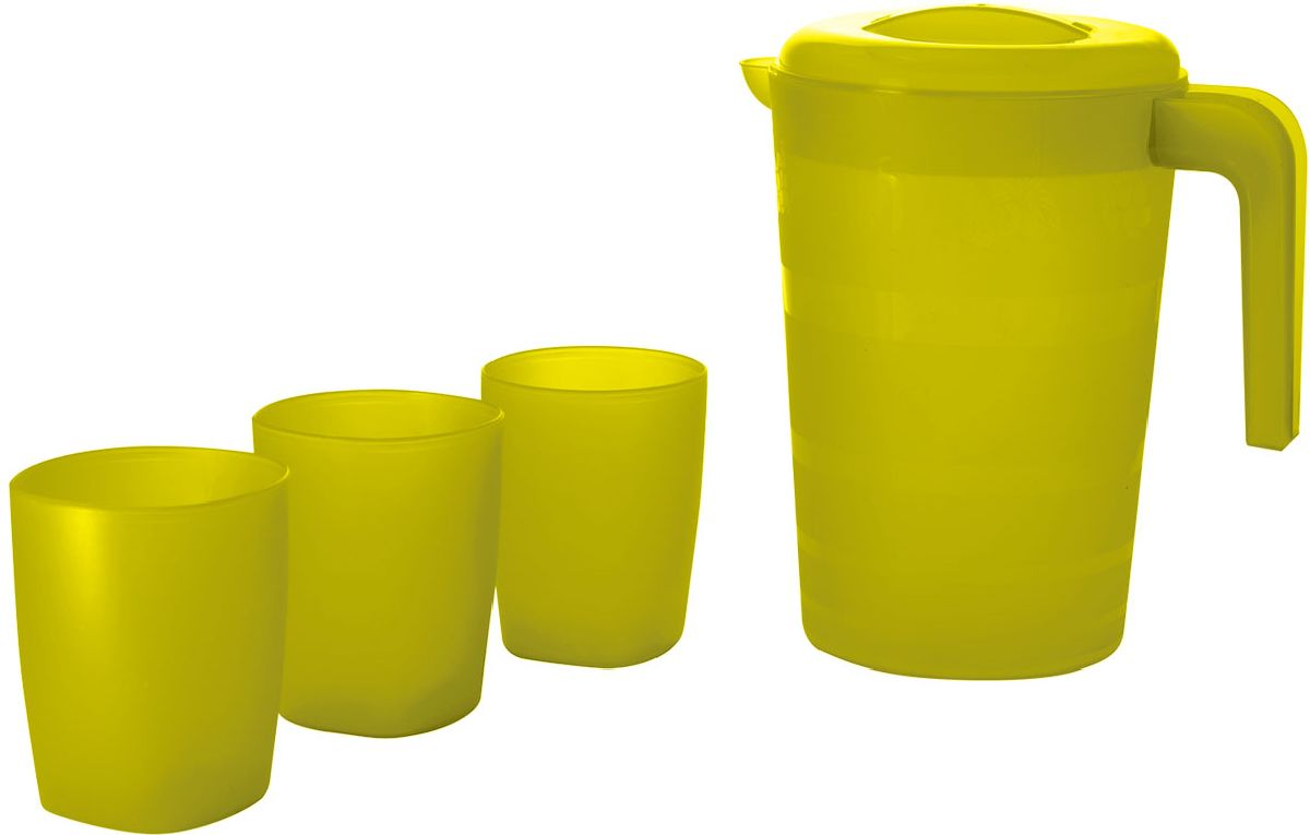 Набор питьевой Plastic Centre Фазенда, цвет: желтый, 4 предмета