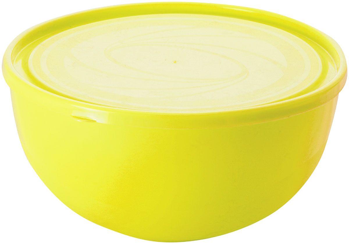 Салатник Plastic Centre Galaxy, с крышкой, цвет: желтый, 550 млПЦ1854ЛМНМногофункциональный салатник Plastic Centre Galaxy с крышкой прекрасно подходит как для приготовления, так и для подачи различных блюд на стол. Лаконичный дизайн впишется в любую обстановку кухни. Крышка сохранит свежесть приготовленных блюд.Объем салатника: 550 мл.Диаметр салатника: 13,4 см.Высота салатника: 7 см.