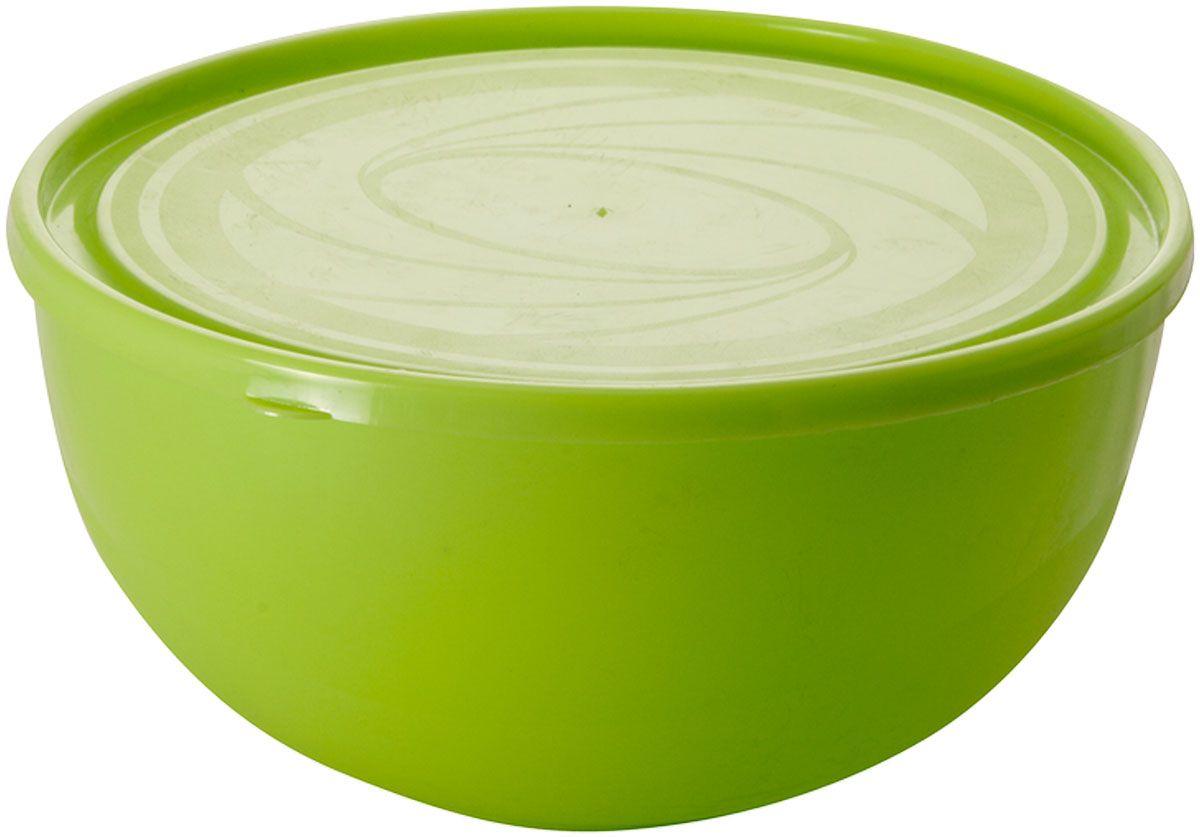 """Салатник Plastic Centre """"Galaxy"""", с крышкой, цвет: светло-зеленый, 4 л"""