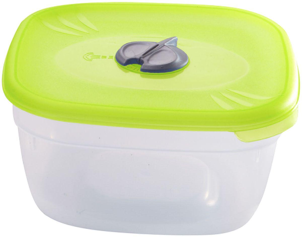 """Многофункциональная емкость """"Plastic Centre"""", выполненная из  пластика, предназначена для хранения различных продуктов,  разогрева пищи, а также для замораживания ягод и овощей в  морозильной камере.  Изделие снабжено крышкой с паровыпускным клапаном. При хранении продуктов емкости можно ставить одну на другую,  сохраняя полезную площадь холодильника или морозильной  камеры. Размер контейнера: 12 x 12 x 5,5 см."""