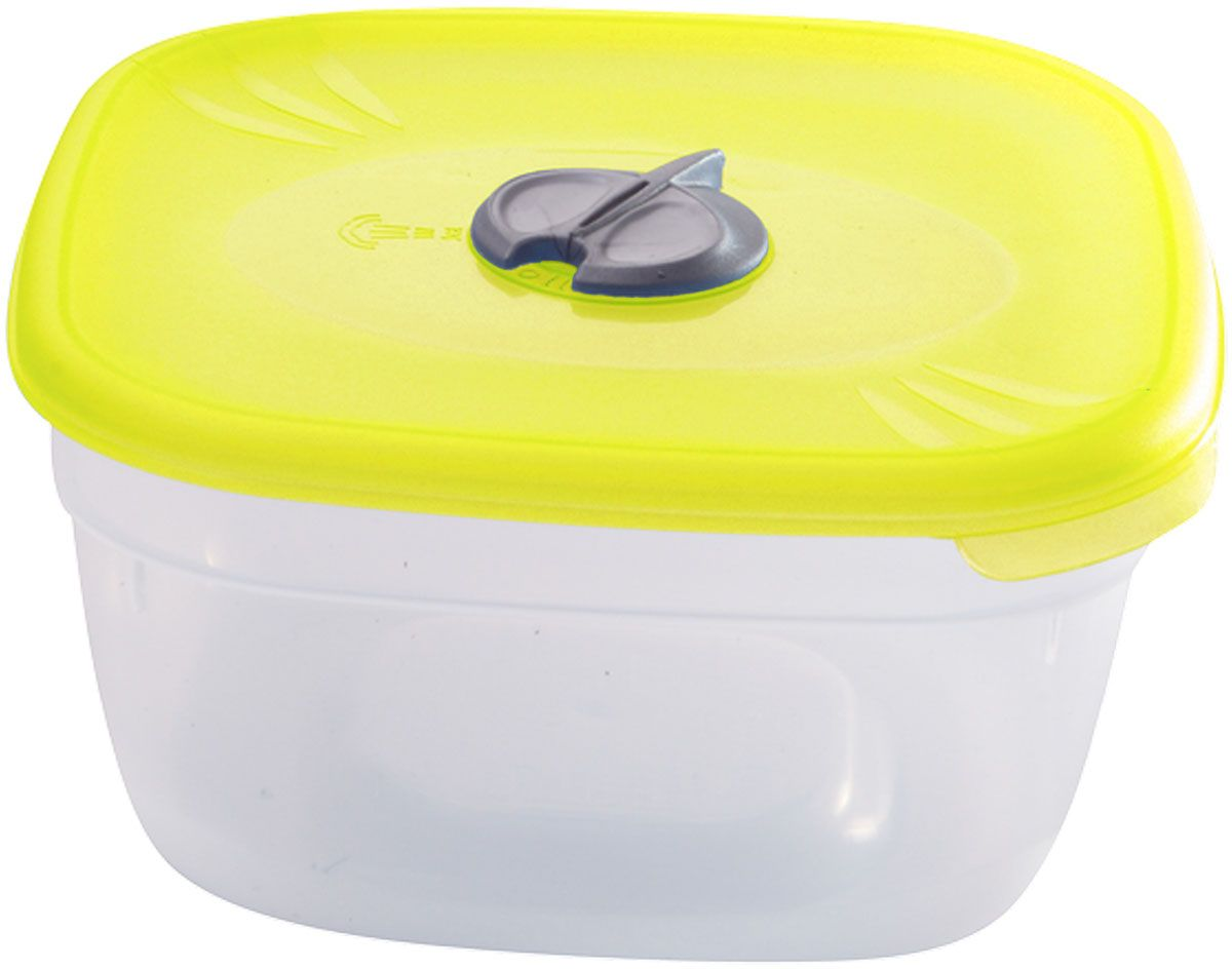 Емкость для СВЧ Plastic Centre, с паровыпускным клапаном, цвет: желтый, прозрачный, 1 лПЦ2212ЛМНМногофункциональная емкость Plastic Centre, выполненная из пластика, предназначена для хранения различных продуктов, разогрева пищи, а также для замораживания ягод и овощей в морозильной камере. При хранении продуктов емкости можно ставить одну на другую, сохраняя полезную площадь холодильника или морозильной камеры.Крышка снабжена паровыпускным клапаном.Размер контейнера: 14,5 х 14,5 х 7,5см.Объем контейнера: 1 л.
