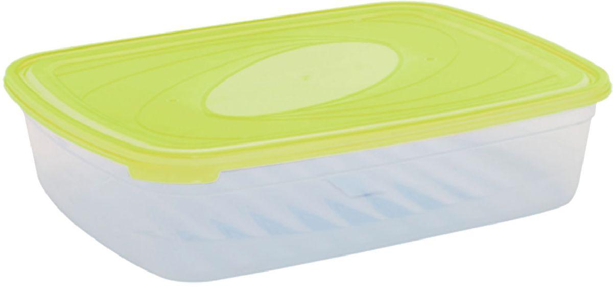Емкость для СВЧ Plastic Centre Galaxy, цвет: светло-зеленый, прозрачный, 4,75 лПЦ2224ЛММногофункциональная емкость для хранения различных продуктов, разогрева пищи, замораживания ягод и овощей в морозильной камере и т.п. При хранении продуктов емкости можно ставить одну на другую, сохраняя полезную площадь холодильника или морозильной камеры.Размер контейнера: 33,5 х 25,2 х 8,5 см.Объем контейнера: 4,75 л.