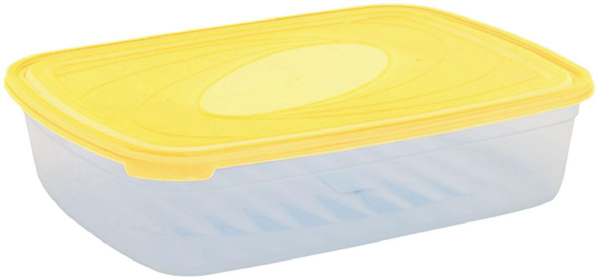 Емкость для СВЧ Plastic Centre Galaxy, цвет: желтый, прозрачный, 4,75 лПЦ2224ЛМНМногофункциональная емкость для хранения различных продуктов, разогрева пищи, замораживания ягод и овощей в морозильной камере и т.п. При хранении продуктов емкости можно ставить одну на другую, сохраняя полезную площадь холодильника или морозильной камеры.Размер контейнера: 33,5 х 25,2 х 8,5 см.Объем контейнера: 4,75 л.