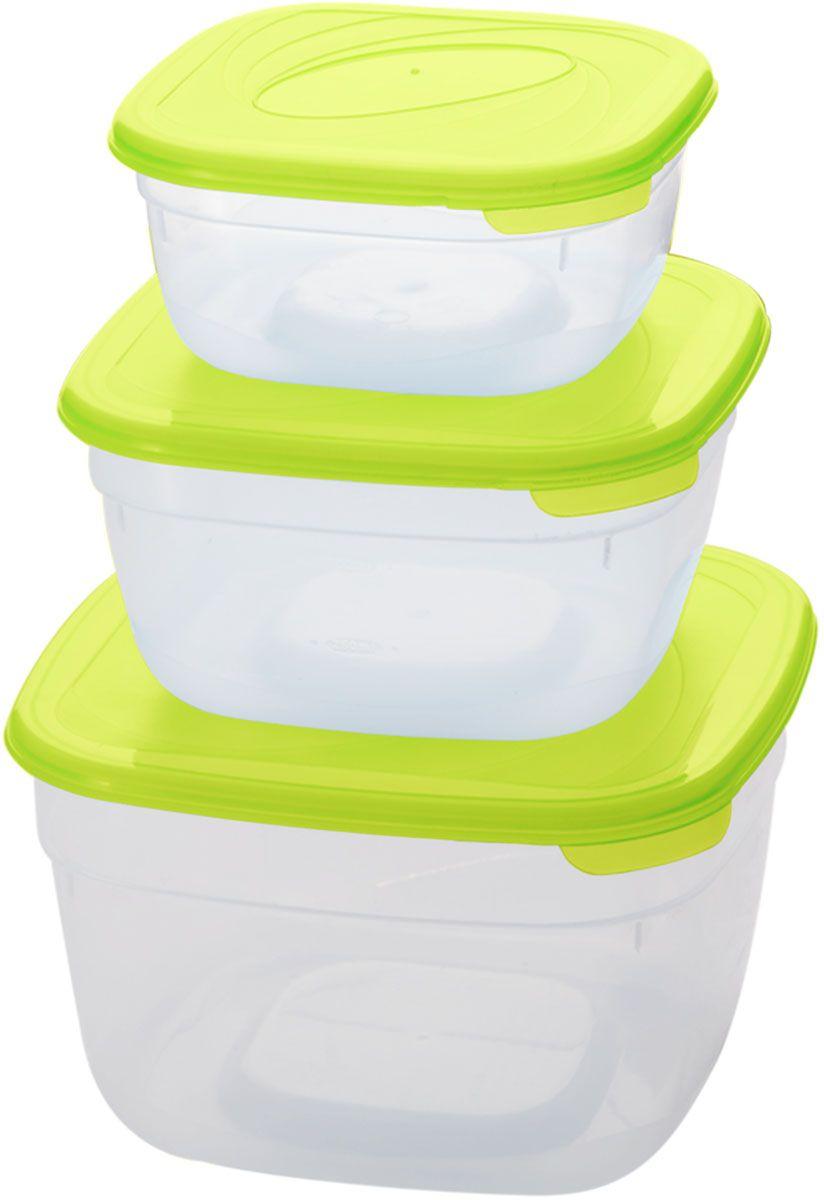 Комплект емкостей для СВЧ Plastic Centre Galaxy, цвет: светло-зеленый, прозрачный, 3 штПЦ2233ЛМКомплект емкостей для СВЧ разных размеров многофункционального применения. Их можно применять как для хранения различных продуктов, так и для разогрева пищи, замораживания ягод и овощей в морозильной камере и т.п. При хранении продуктов емкости можно ставить одну на другую, сохраняя полезную площадь холодильника или морозильной камеры.Объем маленькой емкости: 1 л.Объем средней емкости: 2 л.Объем большой емкости: 3 л.