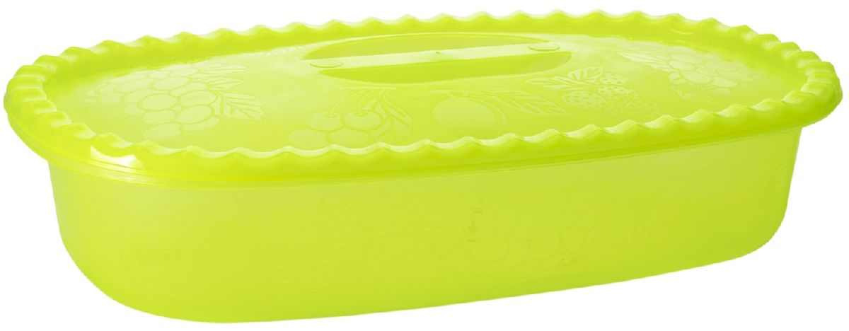 Судок Plastic Centre Фазенда, с крышкой, цвет: светло-зеленый, 1,5 л centre speaker