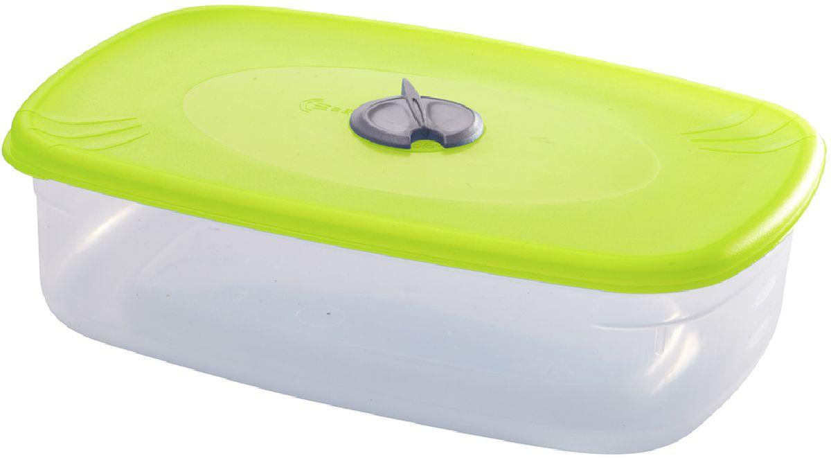 Емкость для СВЧ Plastic Centre, с паровыпускным клапаном, цвет: светло-зеленый, прозрачный, 1,6 лПЦ2329ЛММногофункциональная емкость Plastic Centre, выполненная из пластика, предназначена для хранения различных продуктов, разогрева пищи, а также для замораживания ягод и овощей в морозильной камере. При хранении продуктов емкости можно ставить одну на другую, сохраняя полезную площадь холодильника или морозильной камеры.Крышка снабжена паровыпускным клапаном.Размер контейнера: 22,5 x 15,5 x 7 см.Объем контейнера: 1,6 л.