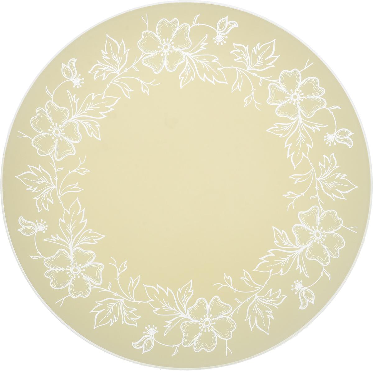 Тарелка NiNaGlass Лара, цвет: светло-бежевый, диаметр 30 см85-300-075/белТарелка NiNaGlass Лара выполнена из высококачественного стекла и оформленакрасивым цветочным узором. Тарелка идеальна для сервировки закусок, нарезок, овощей и фруктов. Она отлично подойдет как для повседневных, так идля торжественных случаев.Такая тарелка прекрасно впишется в интерьер вашей кухни и станет достойнымдополнением к кухонному инвентарю.
