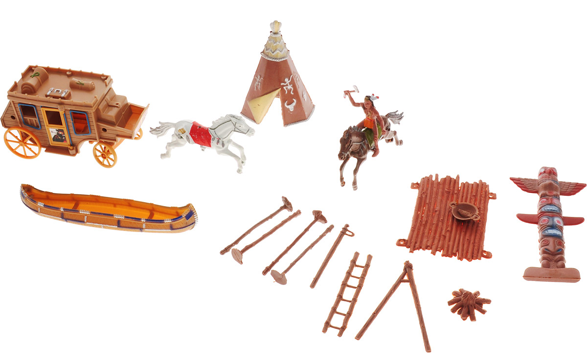 S+S Toys Игровой набор Индейцы 809pcs elves skyra s mysterious sky castle model building block toys enlighten 10415 gift for children compatible legoe 41708