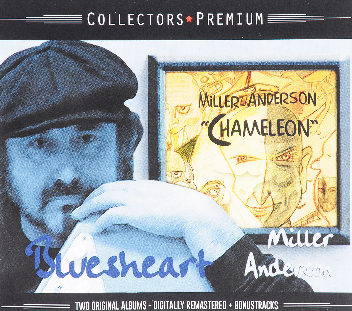 Collectors Premium. Miller Anderson. Bluesheart / Chameleon (2 CD)