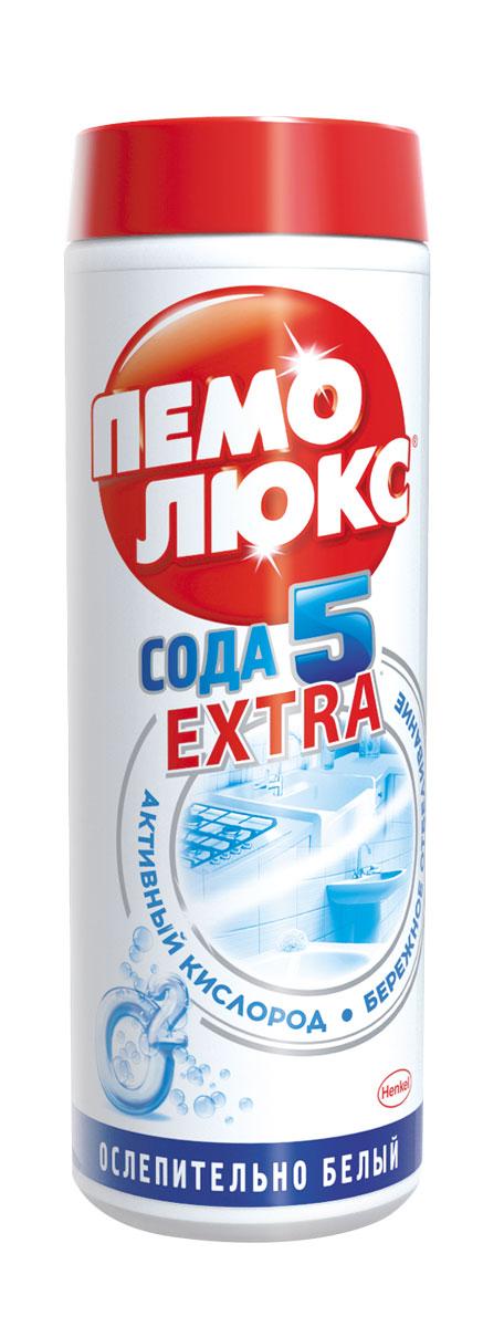Чистящее средство Пемолюкс Сода 5 Экстра Ослепительно белый 480г935070Уникальнаяформула Пемолюкс Ослепительно Белый с содой, мягким абразивом и активным кислородом поможет вернуть первоначальную белизну поверхностям. Активный кислород борется со сложными загрязнениями, такими как пятна от чая, кофе и ягод. Пемолюкс не содержит опасных химикатов и подходит для чистки керамических, эмалированных, металлических и других твердых поверхностей на кухне, в ванной и в прочих помещениях.Состав: Товар сертифицирован.
