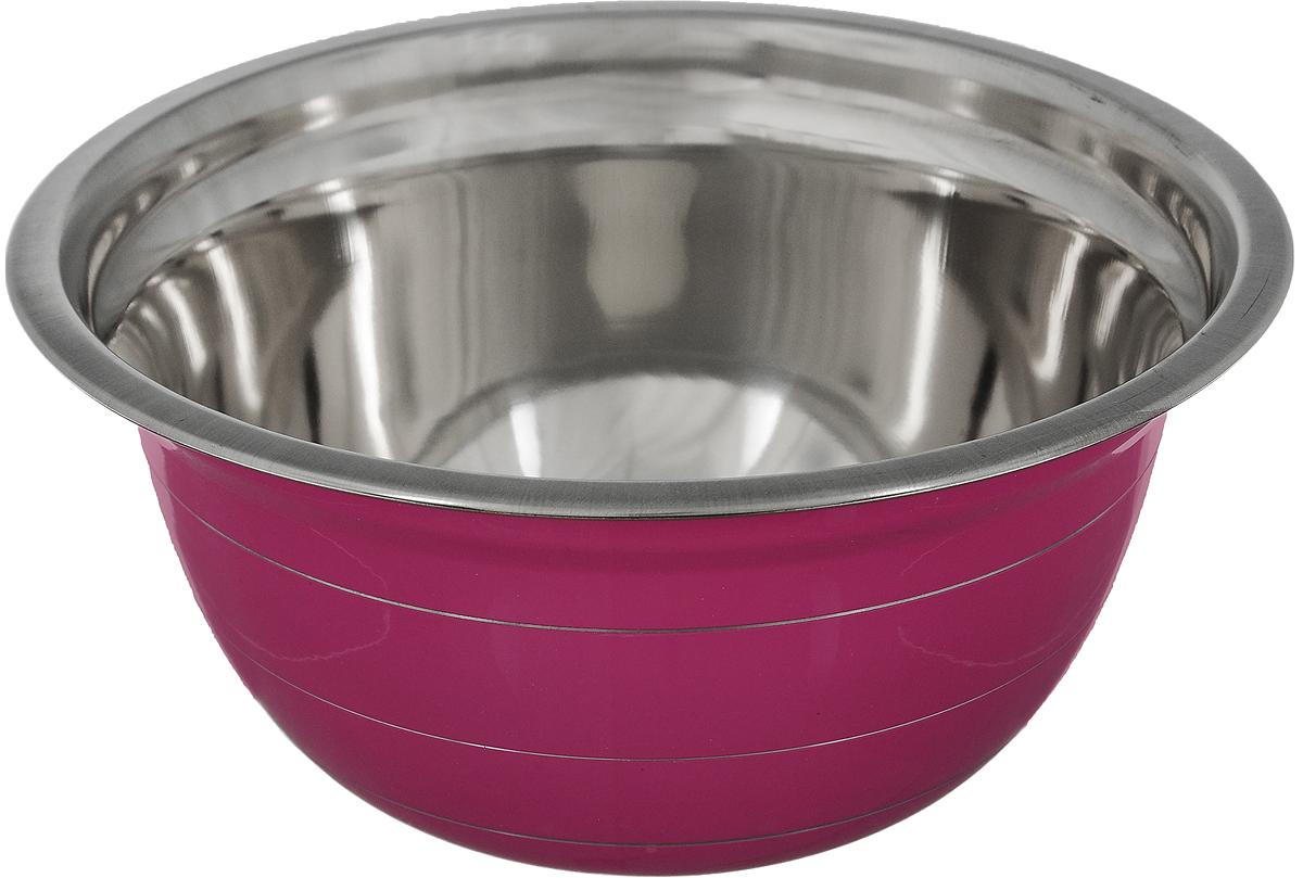 Миска Mayer & Boch, цвет: малиновый, стальной, диаметр 20 см