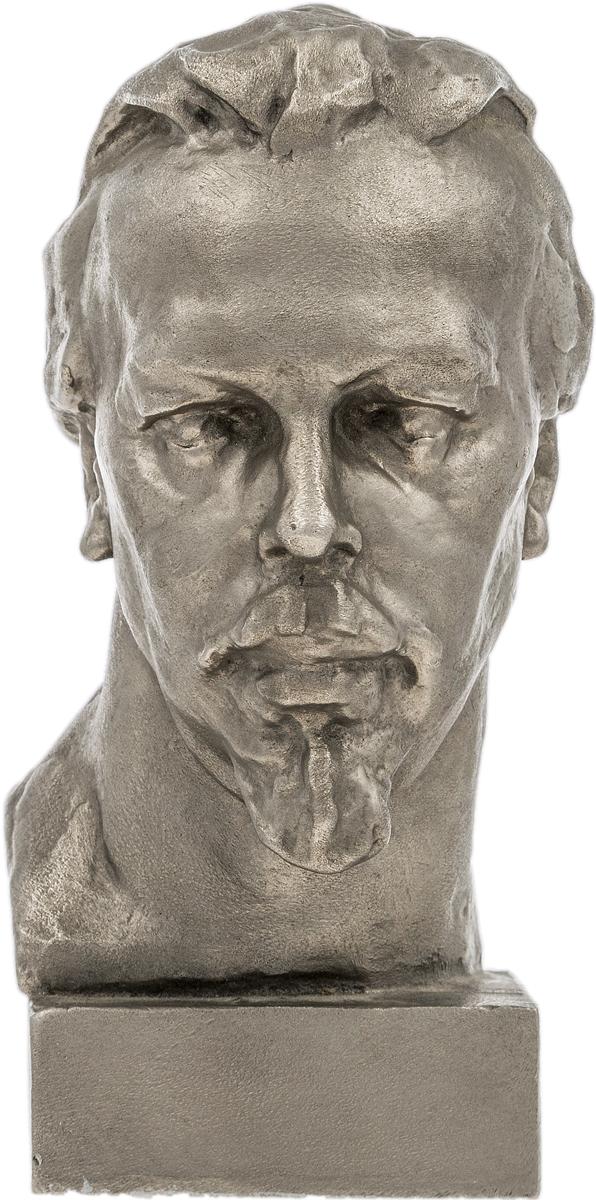 Бюст А. С. Попова. Алюминиевый сплав, литье. СССР, вторая половина ХХ века