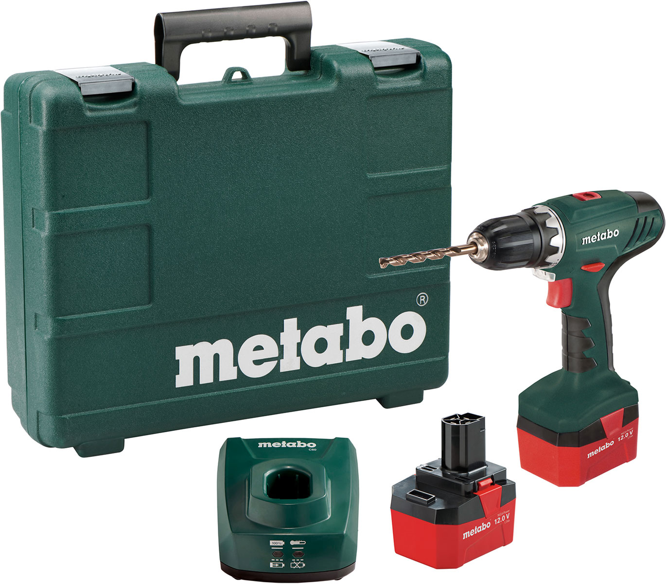 Шуруповерт аккумуляторный Metabo BS 12 NiCd602194500Аккумуляторный шуроповерт Metabo BS 12 NiCd имеет новый современный дизайн. Инструмент используется для сверления отверстий и закручивания крепежных элементов. Рукоятка обеспечивает надежный хват, благодаря чему работать комфортно. Быстрозажимной патрон означает более быструю и простую замену насадок. Яркая светодиодная подсветка позволяет работать в условиях недостаточной освещенности. Пластиковый кейс решает вопрос хранения и транспортировки. Особенности: Встроенная подсветка для освещения рабочего места.Быстрозажимный патрон и редуктор со стопором шпинделя для удобной смены инструмента, выполняемой одной рукой.Напряжение аккумуляторного блока 12 V.Емкость аккумуляторного блока 1,7 Ah.Тормоз выбега.Диапазон зажима сверлильного патрона: 1 - 10 мм.Значения для числа оборотов холостого хода: 0 - 450 / 0 - 1.500 /мин.Диаметр сверления в дереве/стали: 20 мм / 10 мм.Регулируемый крутящий момент: 1,8 - 5,2 Нм.Макс. жесткий вращающий момент: 35 Нм.Макс. мягкий вращающий момент: 17 Нм.Напряжение аккумуляторного блока: 12 В.Емкость аккумуляторного блока: 1,7 Ач.Вид аккумуляторного блока: NiCd.Вес (с аккумуляторным блоком) 1,5 к.