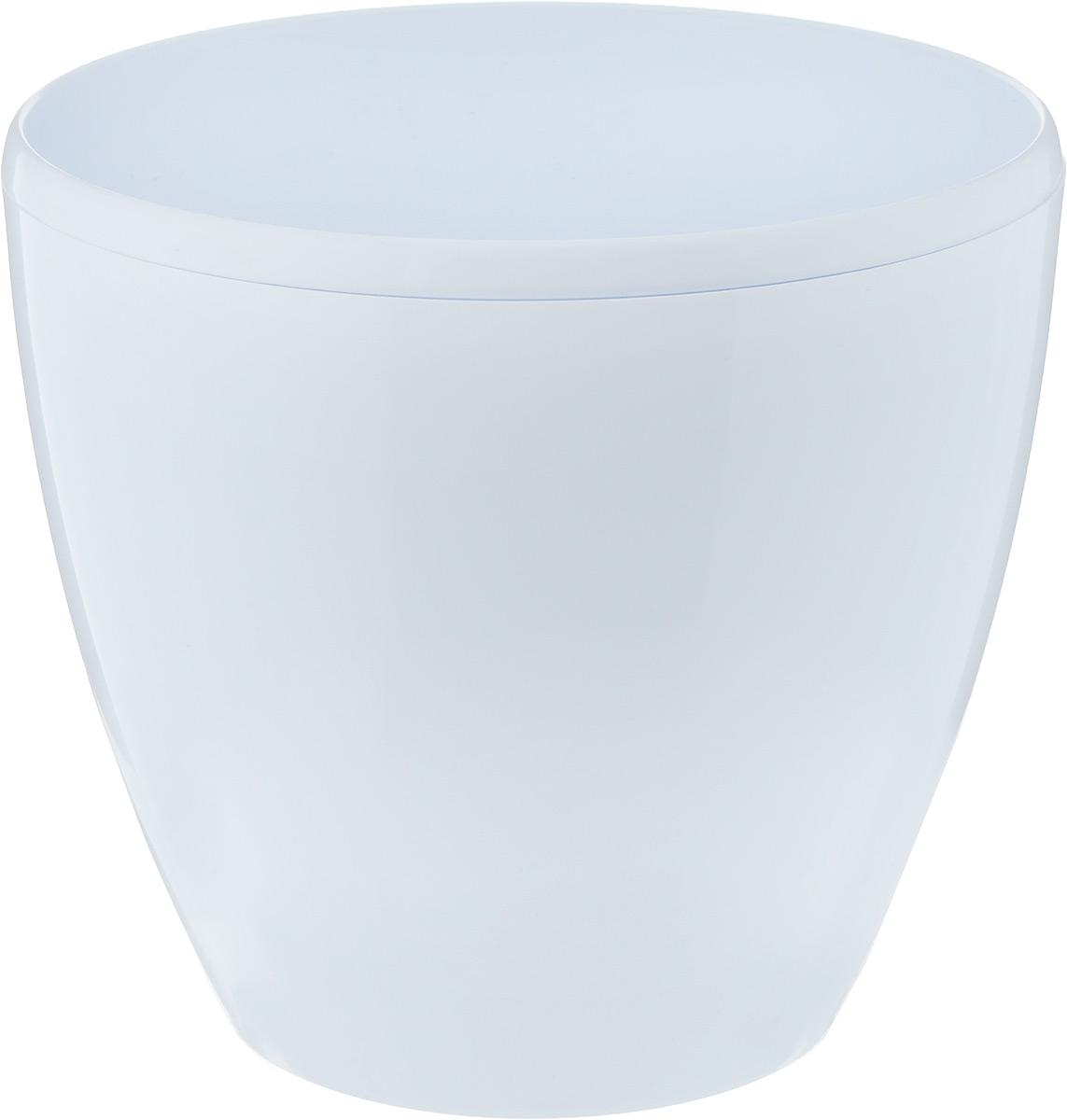Горшок цветочный Santino Deco Twin, с системой автополива, цвет: белый, 5,8 л холодильник samsung rs4000 с двухконтурной системой twin cooling 569 л