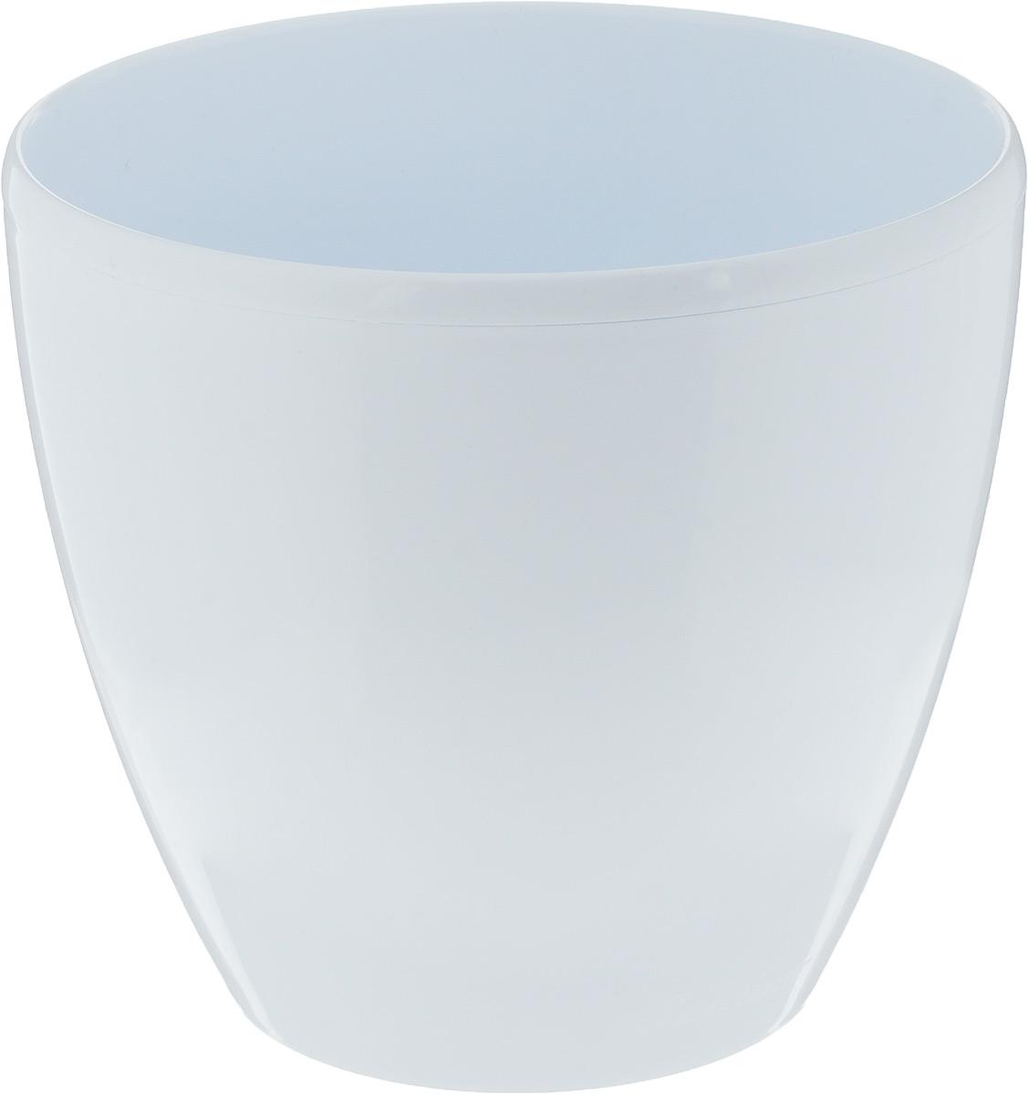 Горшок цветочный Santino Deco Twin, с системой автополива, цвет: белый, 2,5 л холодильник samsung rs4000 с двухконтурной системой twin cooling 569 л