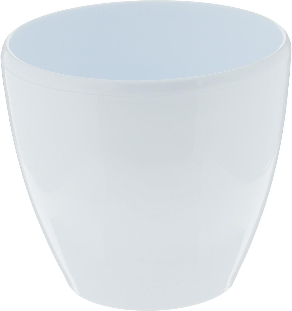 Горшок цветочный Santino Deco Twin, с системой автополива, цвет: белый, 1,5 л холодильник samsung rs4000 с двухконтурной системой twin cooling 569 л