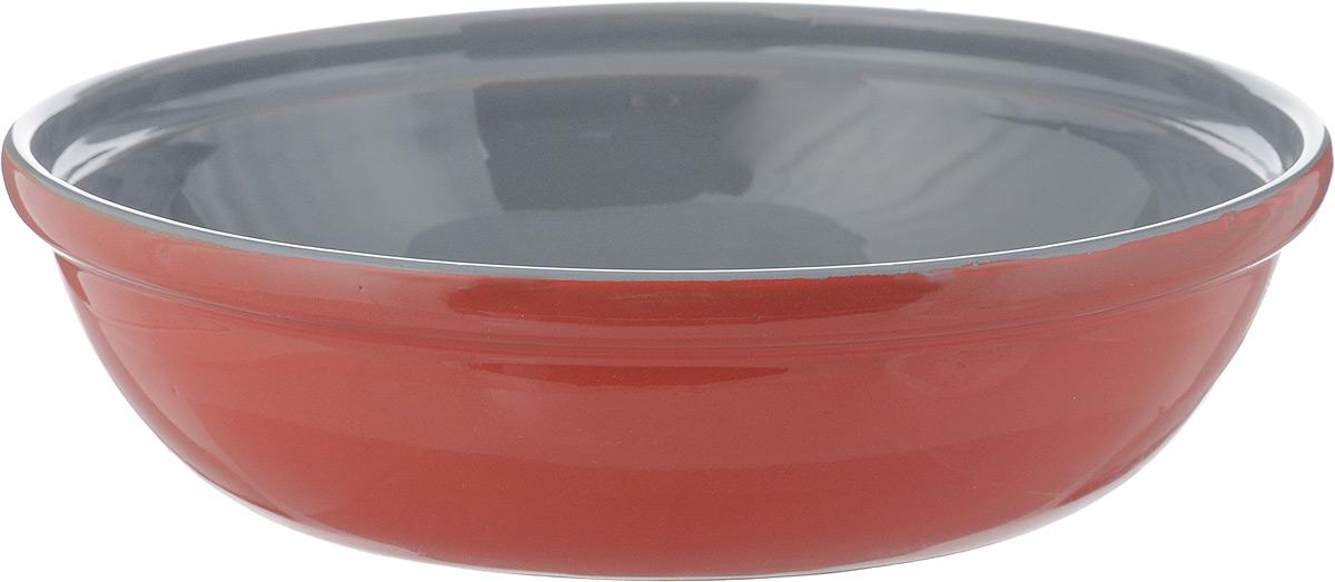 Салатник Борисовская керамика Модерн, цвет: красный, серый, 1 лРАД00000830_красный, серыйСалатник Борисовская керамика Модерн выполнен из керамики, произведенной из экологически чистой красной глины с покрытием пищевой глазурью. Изделие можно использовать для подачи супов, каш, мюсли, хлопьев с молоком, салатник также подойдет для сервировки салатов, закусок, соусов и многого другого.Посуда Борисовская керамика подчеркнет прекрасный вкус хозяйки и станет отличным подарком. Можно использовать в духовке и микроволновой печи.Диаметр салатника (по верхнему краю): 21,5 см. Высота салатника: 5,5 см.